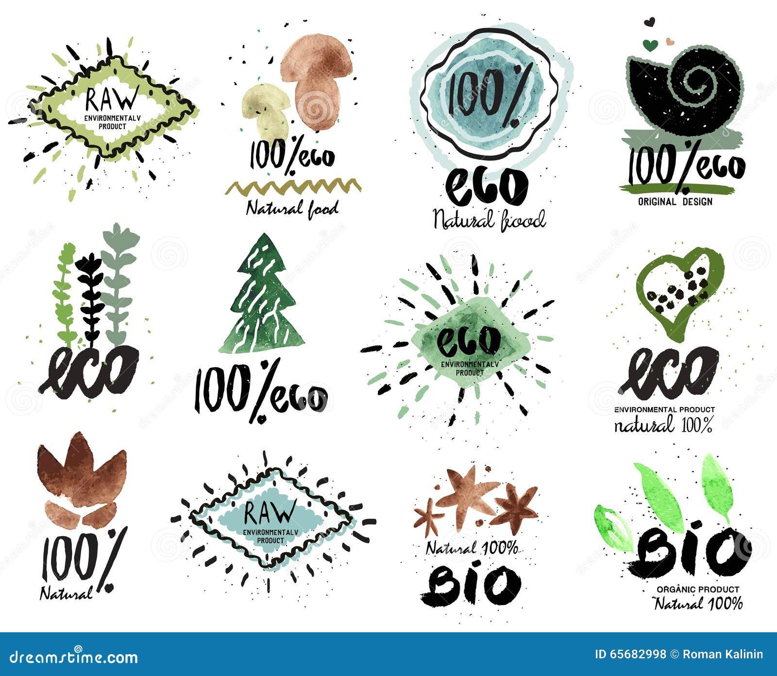 herbal food logo vector illustration cartoondealercom