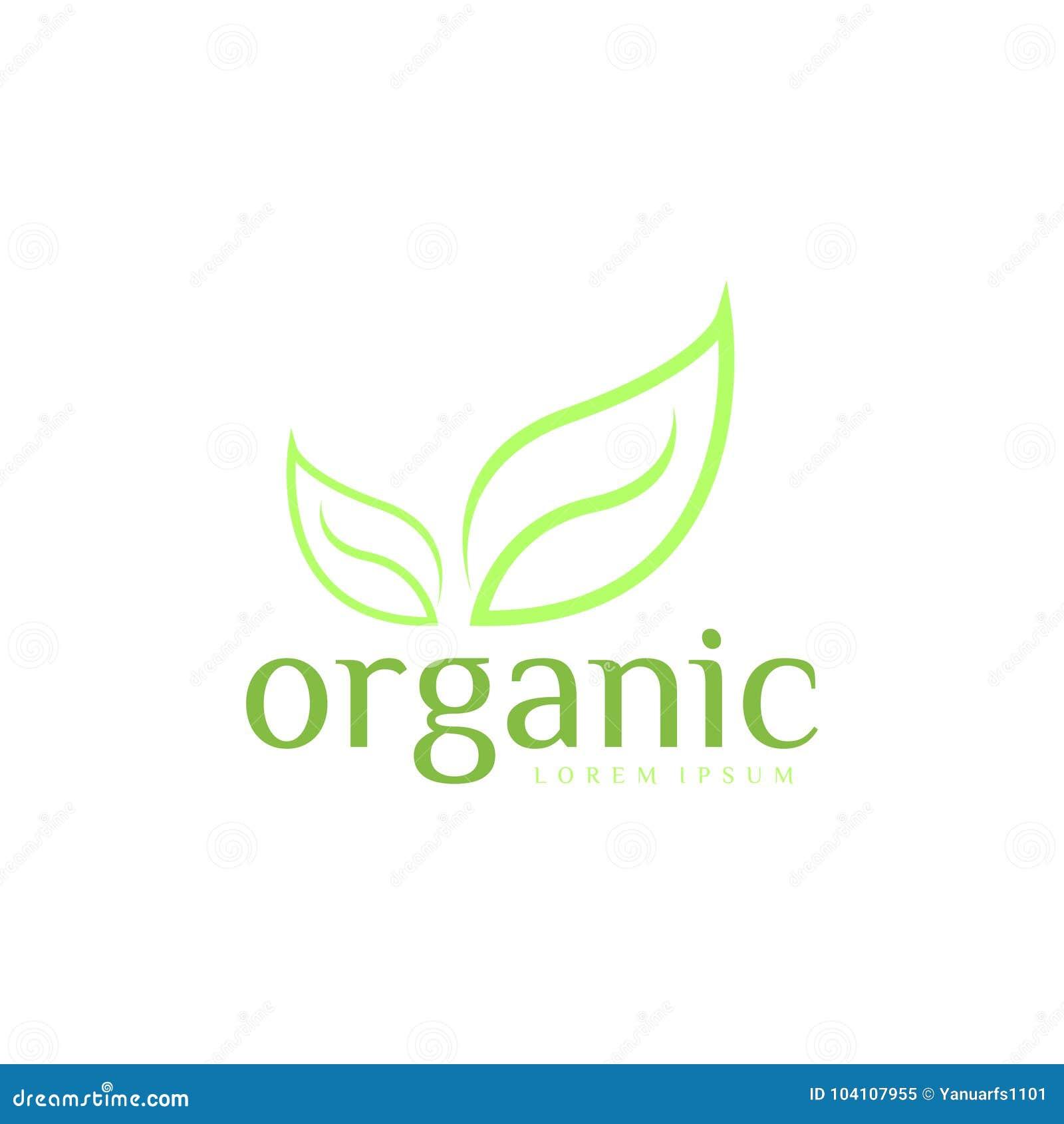 Organic Logo Vector Art. Template. Business