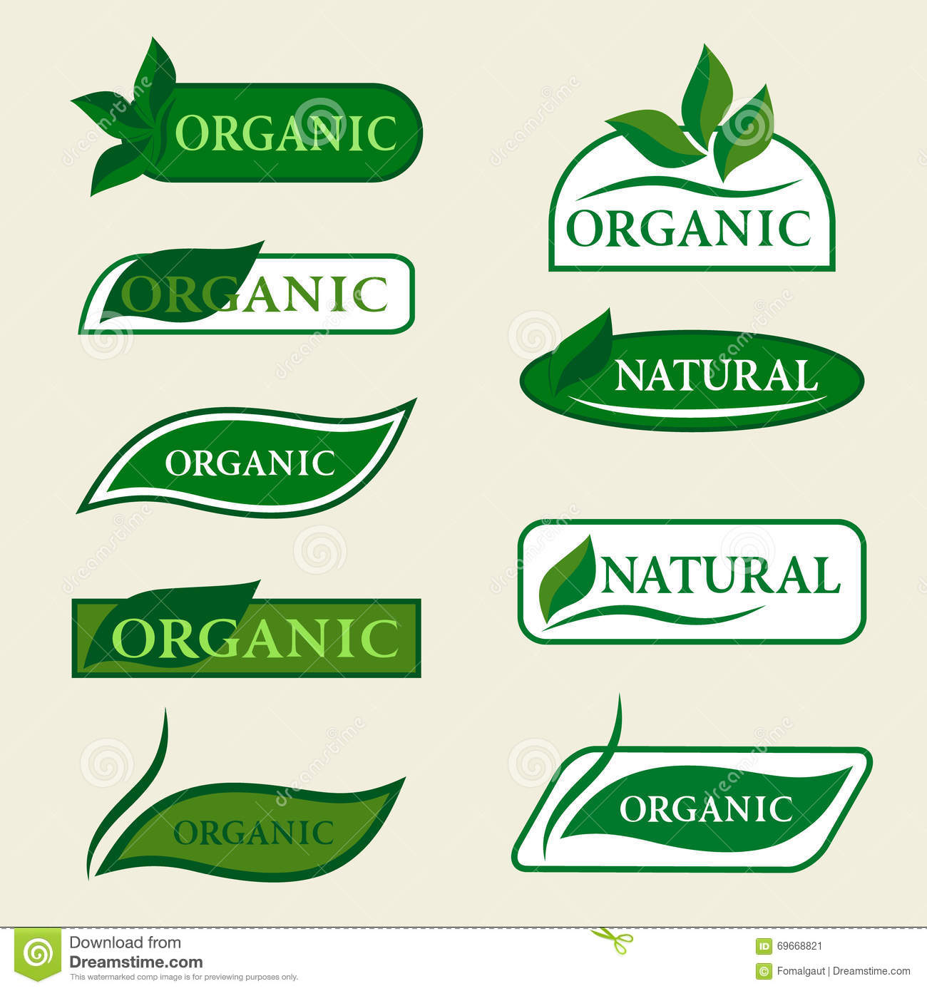 Vector Set Or Organic Signs And Logo Design Elements - Eco And Bio ...