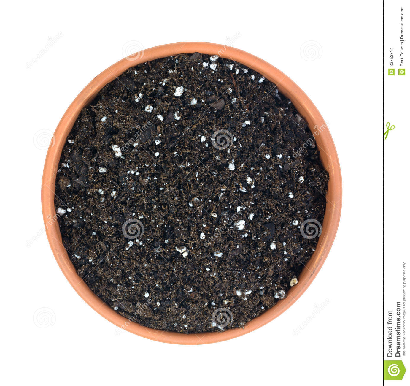 Organic potting soil in clay pot stock photo image 33753814 for Organic top soil