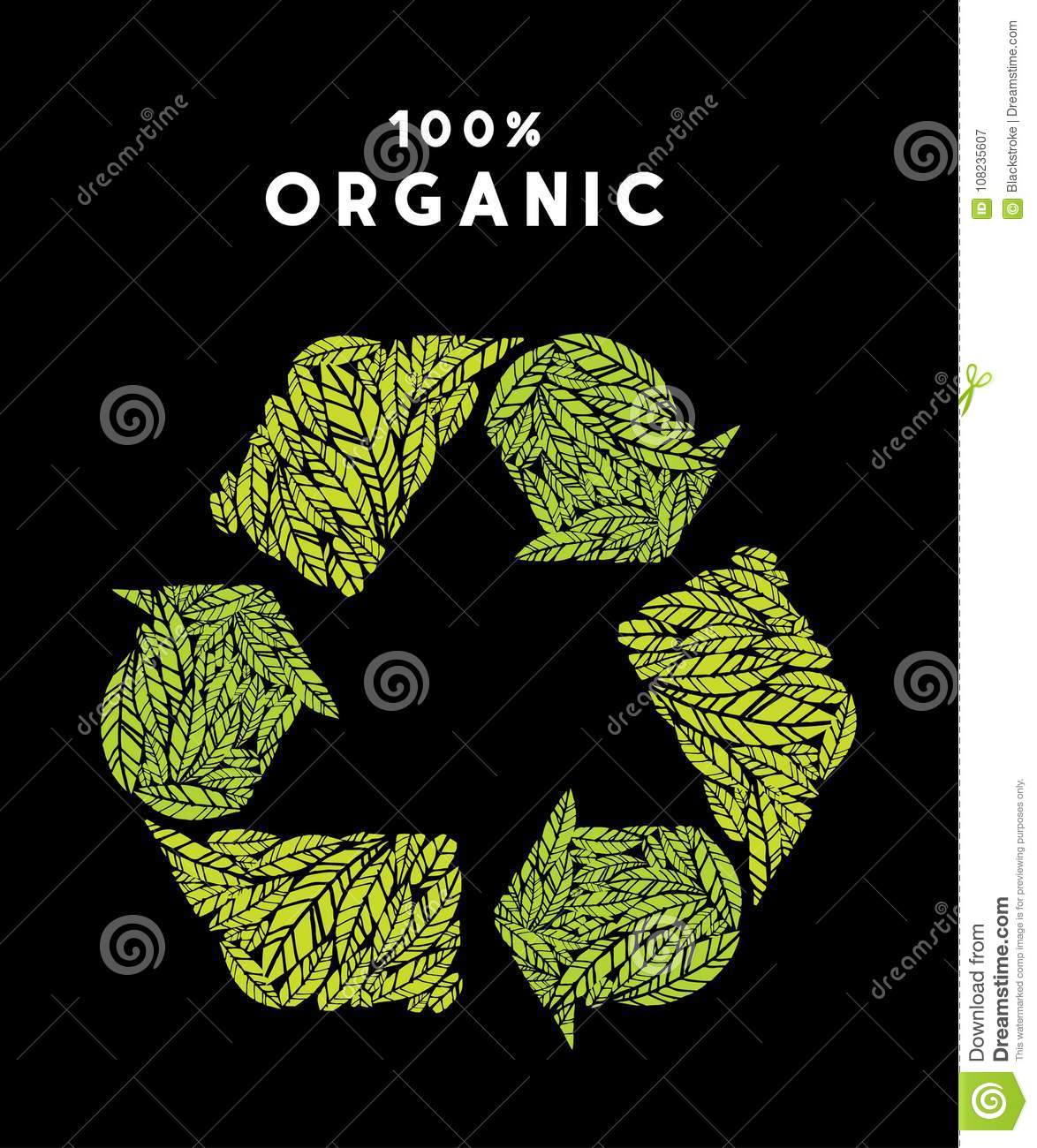 Organic recycle vector – stock illustration – stock illustration file