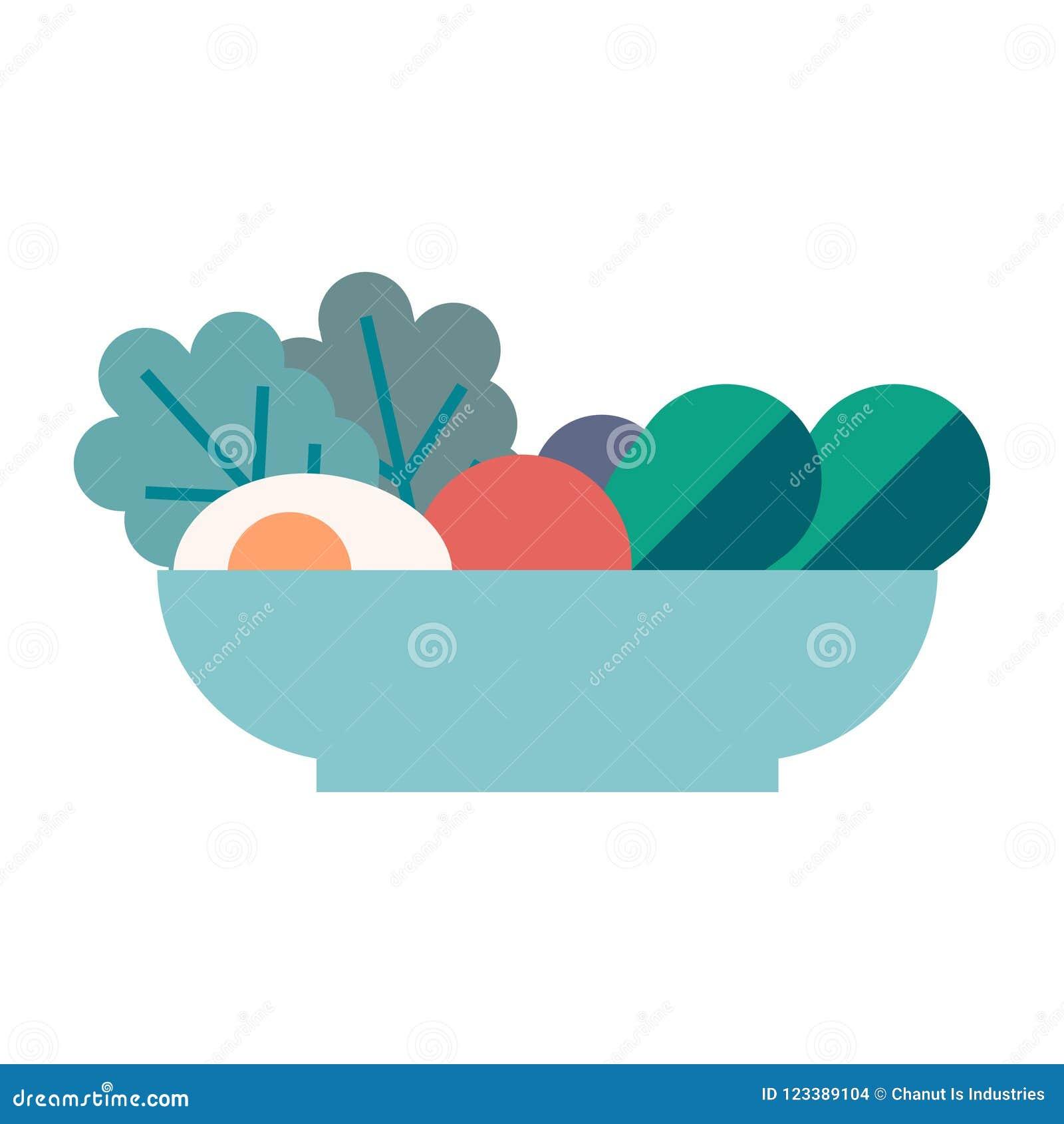 Salad vector illustration