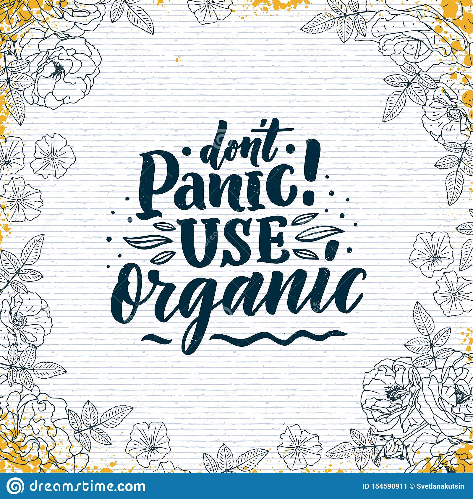 Organic Skin Care Phrase Concept Banner  Natural Cosmetic