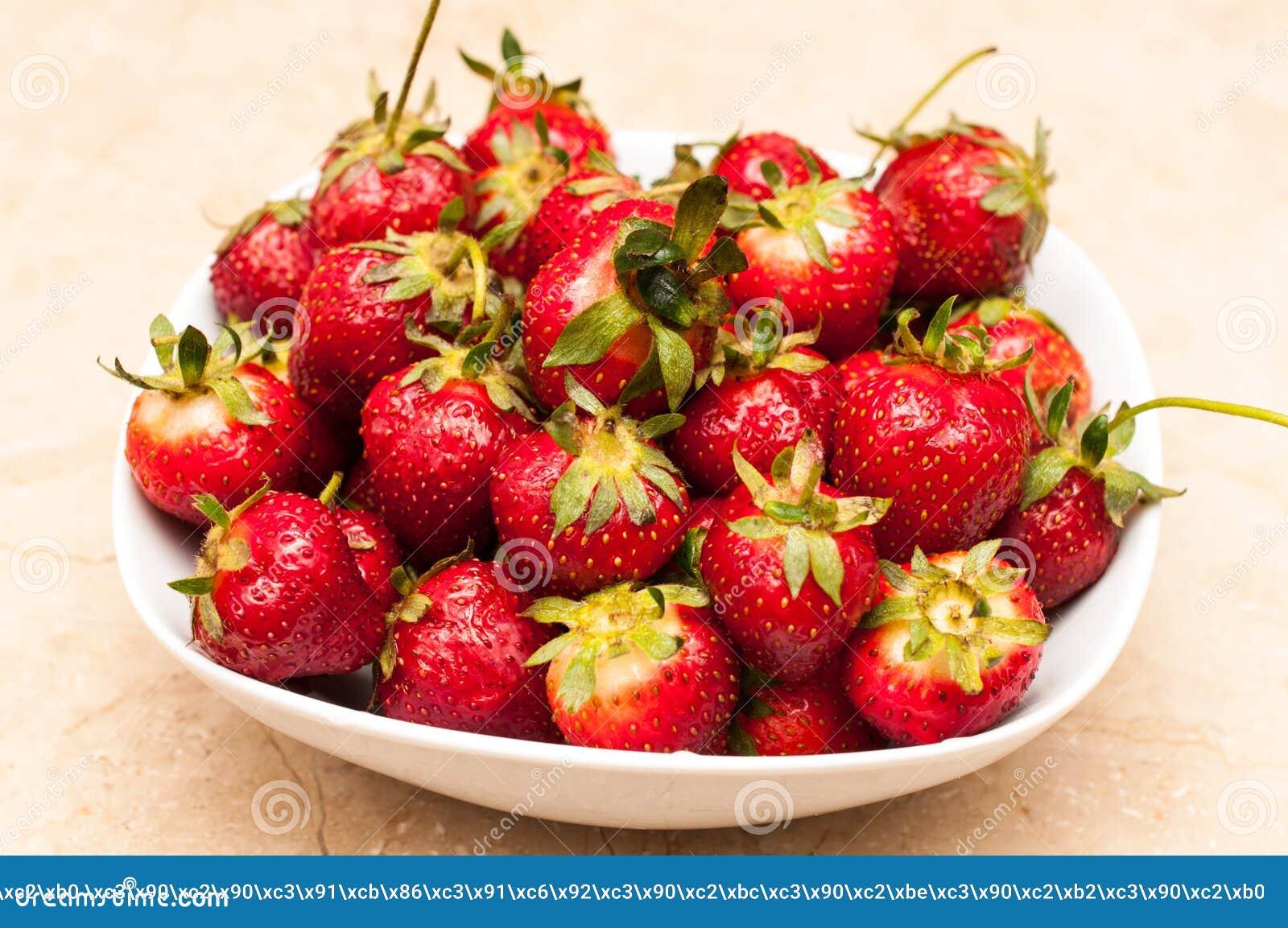 Organic strawberries fruit diet summer