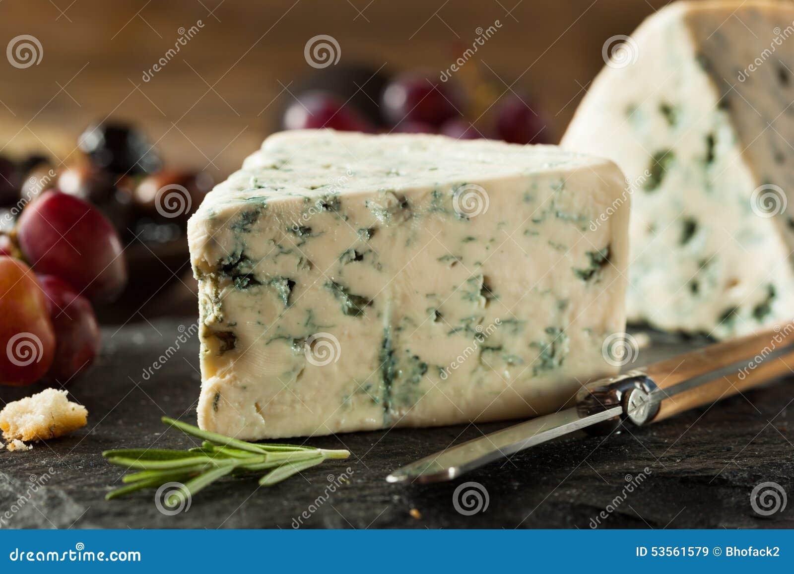 Organicznie Błękitnego sera klin