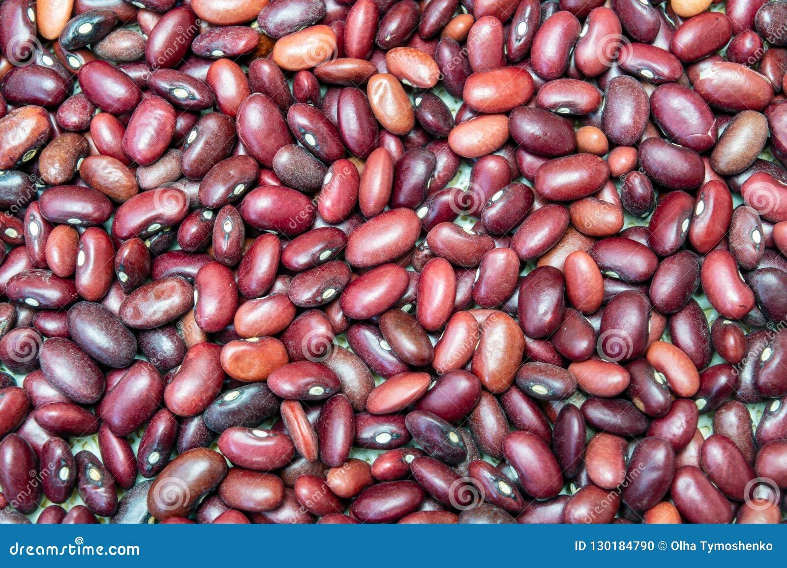 Organicznie purpurowa czerwona fasola zamknięta w górę jedzenia