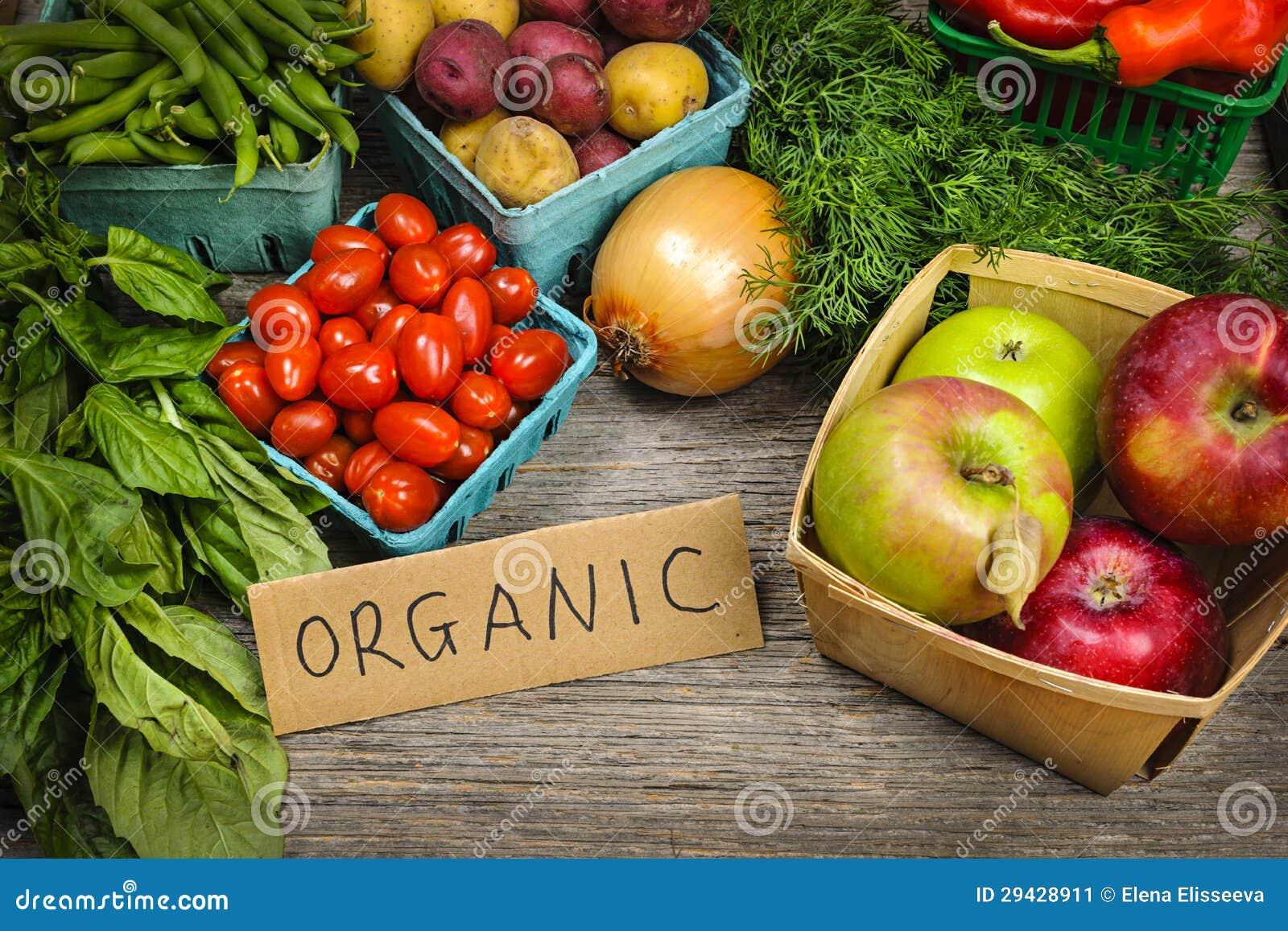 Organicznie targowi owoc i warzywo
