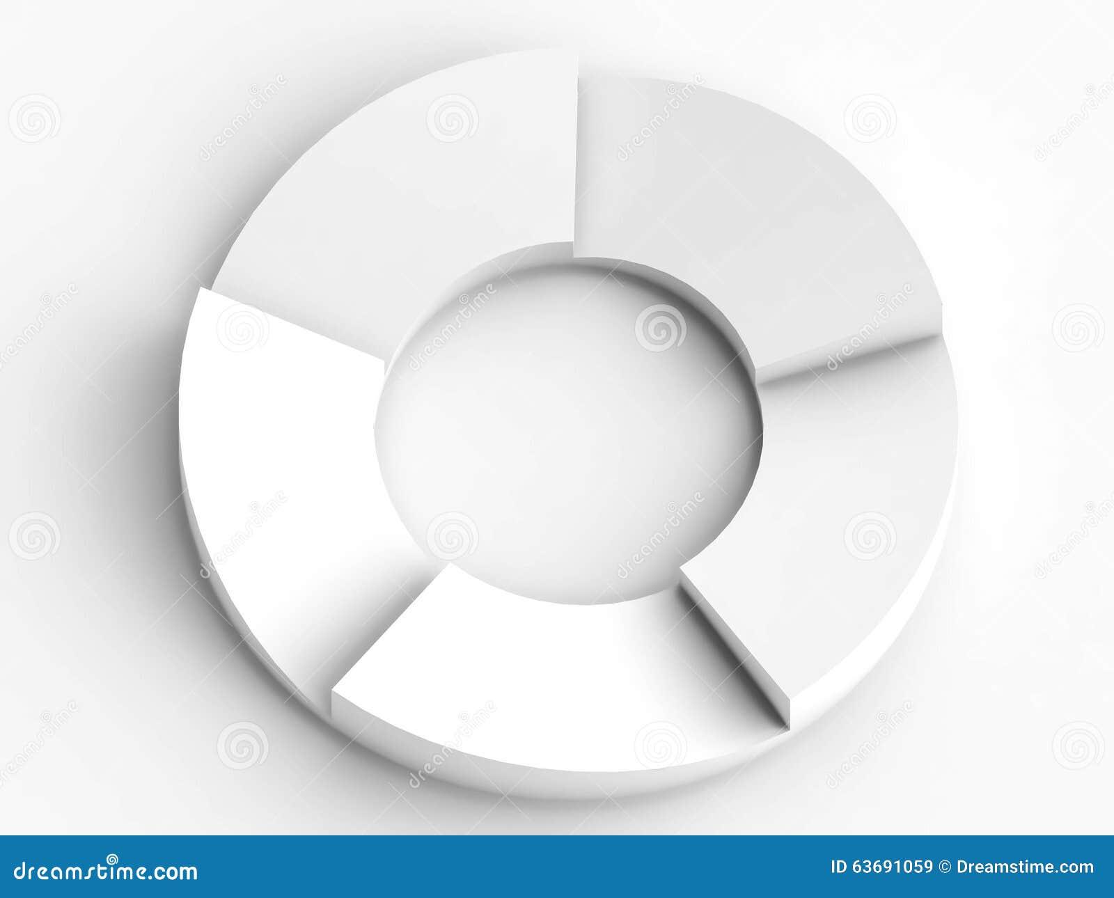 Organigrama Circular Creativo En El Fondo Blanco Stock De