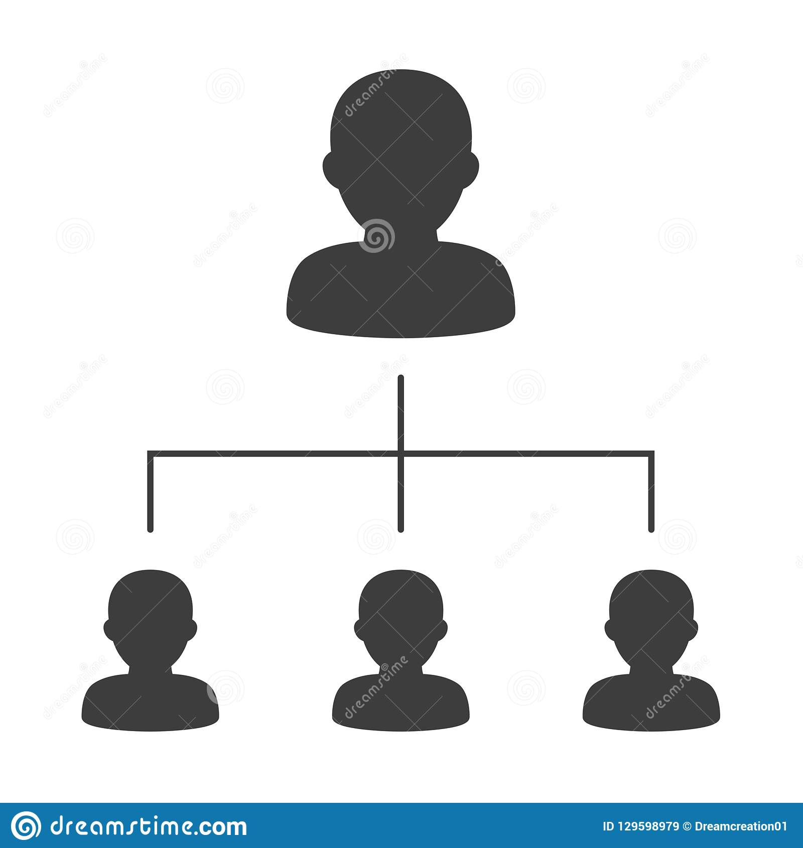Organigramme d entreprise avec des gens d affaires d icônes