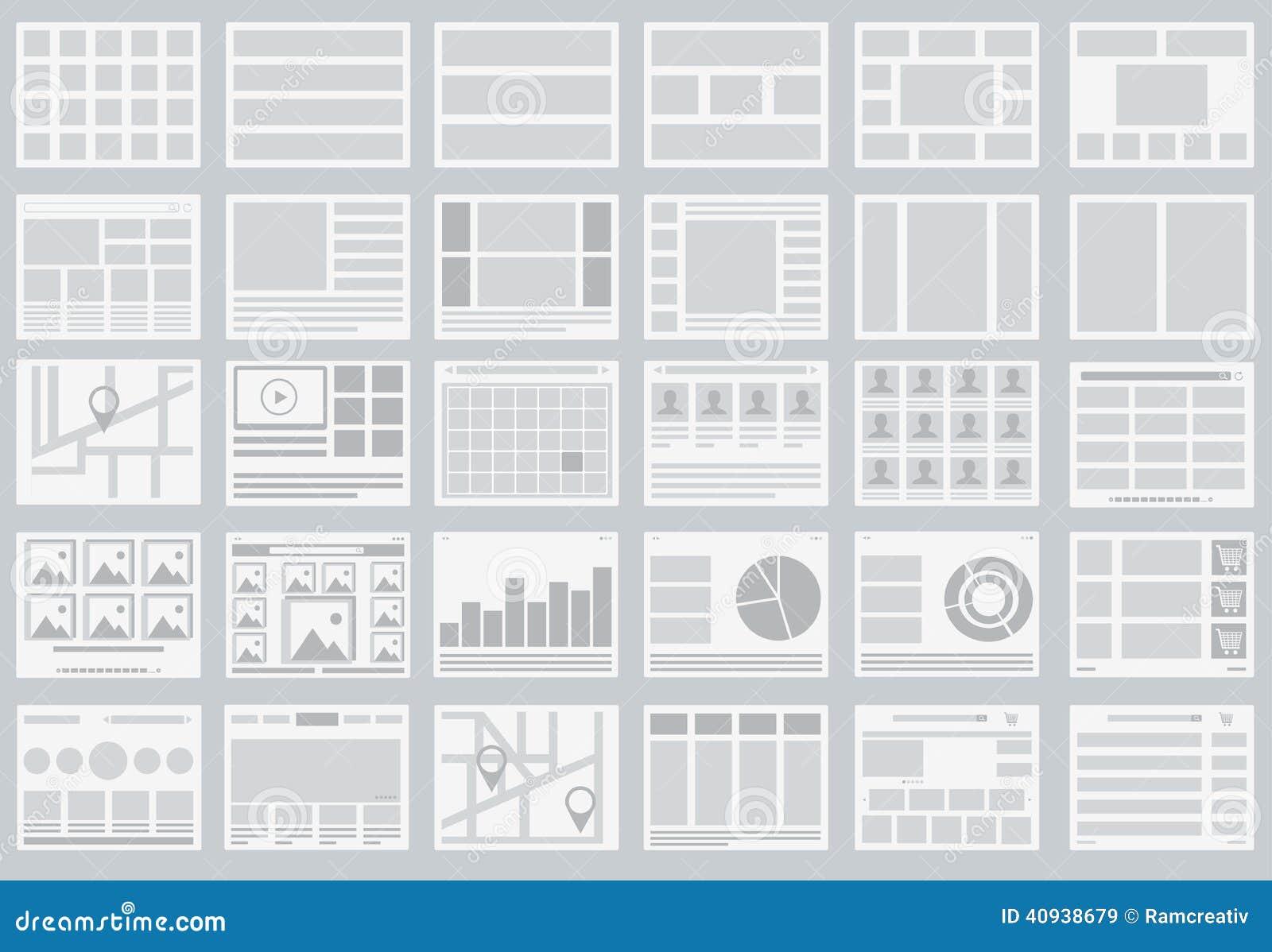 Organigrammes de site Web, dispositions des étiquettes, infographics, cartes