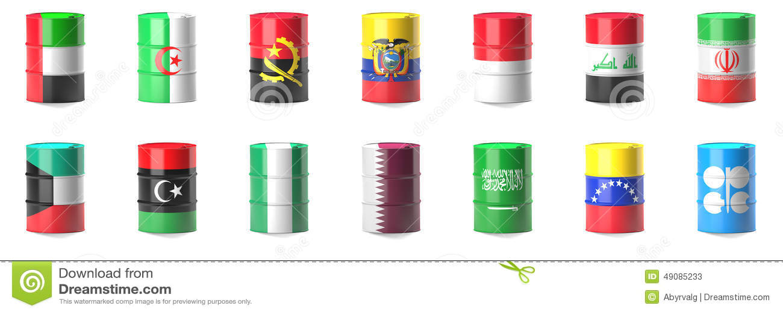 Organisation der ölexportierenden Landflaggen
