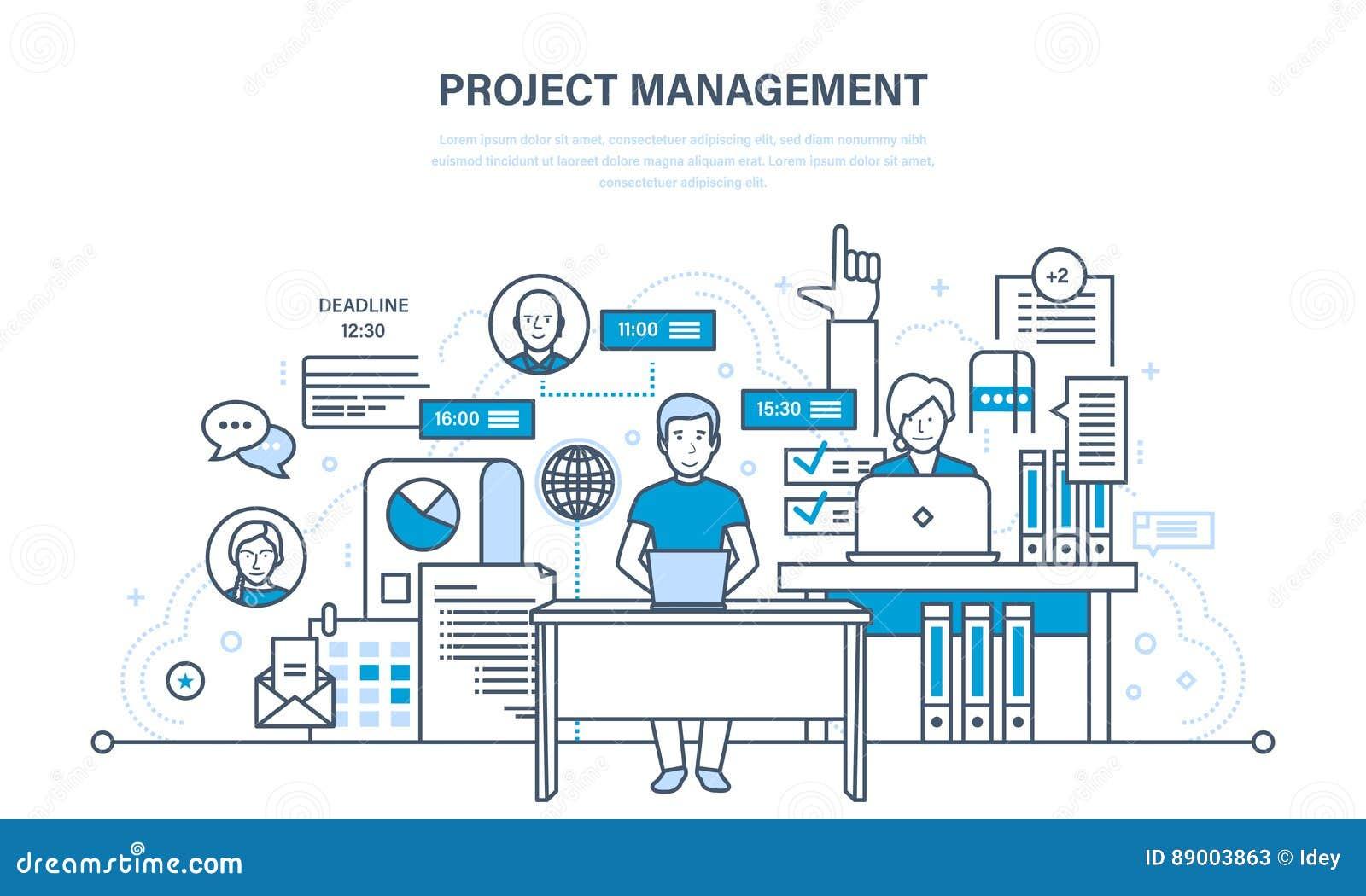 Organisation des Arbeitsprozesses, Zeit, Unternehmensplanung, Statistiken, Analyse, Teamwork