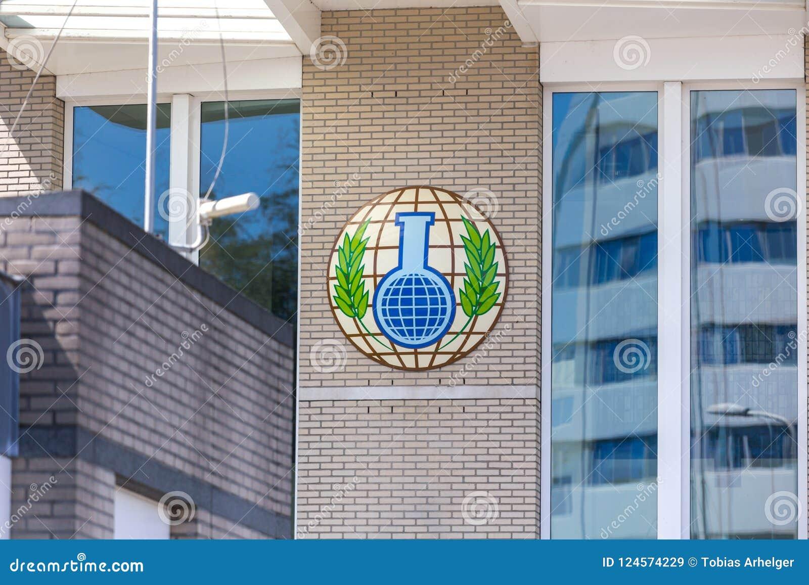 Organisation dla prohibici Chemiczne bronie buduje Hague holandie