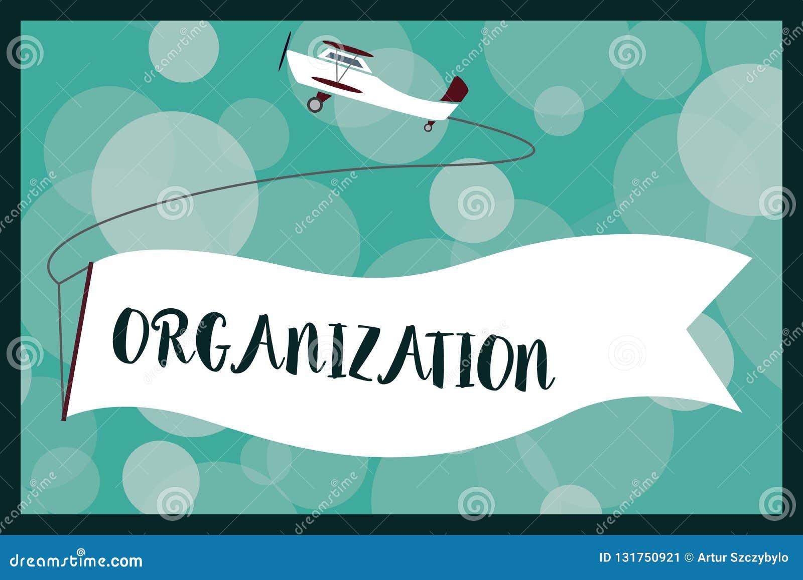 Organisation för textteckenvisning Begreppsmässigt foto organiserad grupp av visning med en särskild avsiktaffär