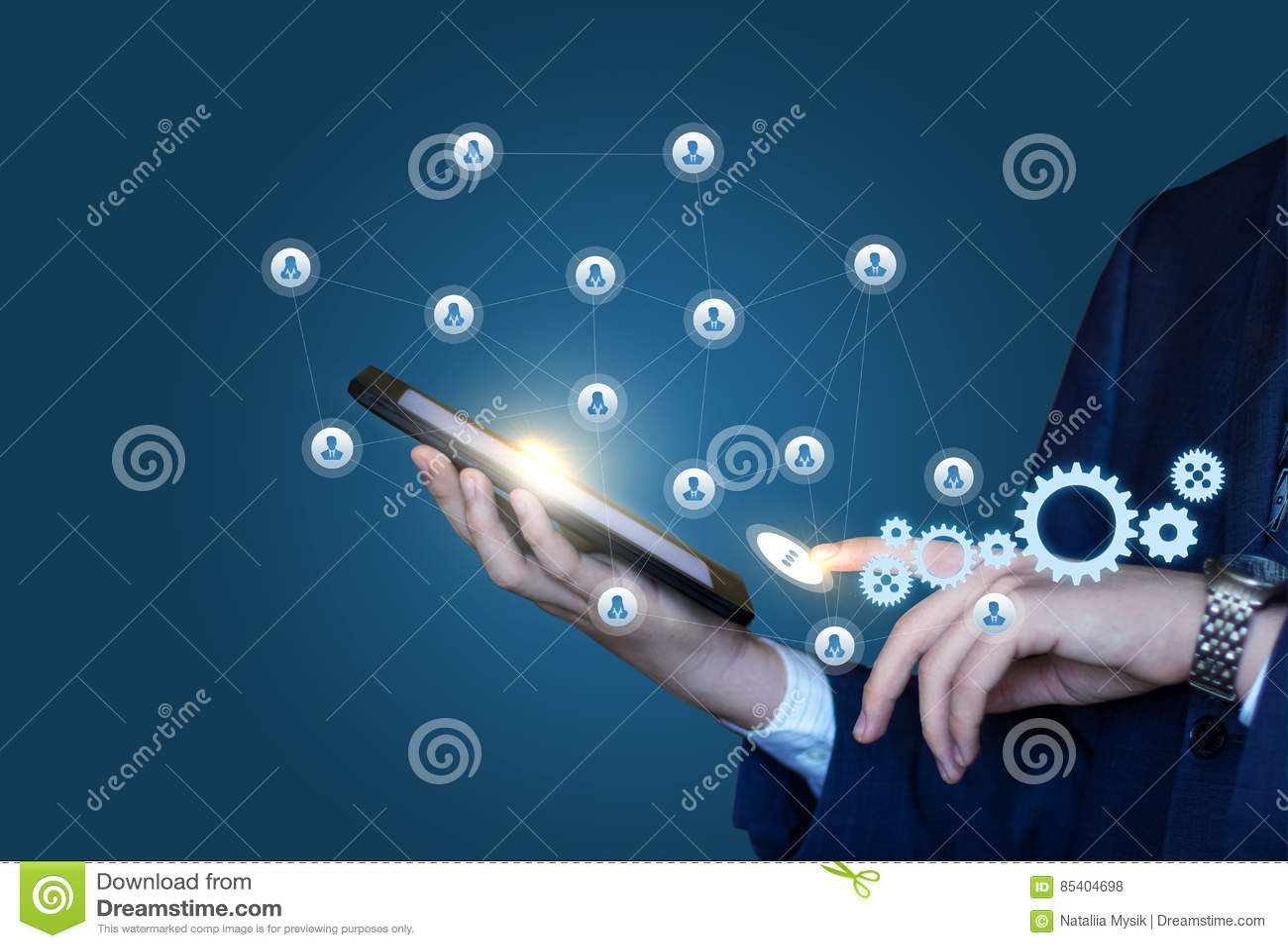 Organisation och utförande av arbete genom att använda det sociala nätverket