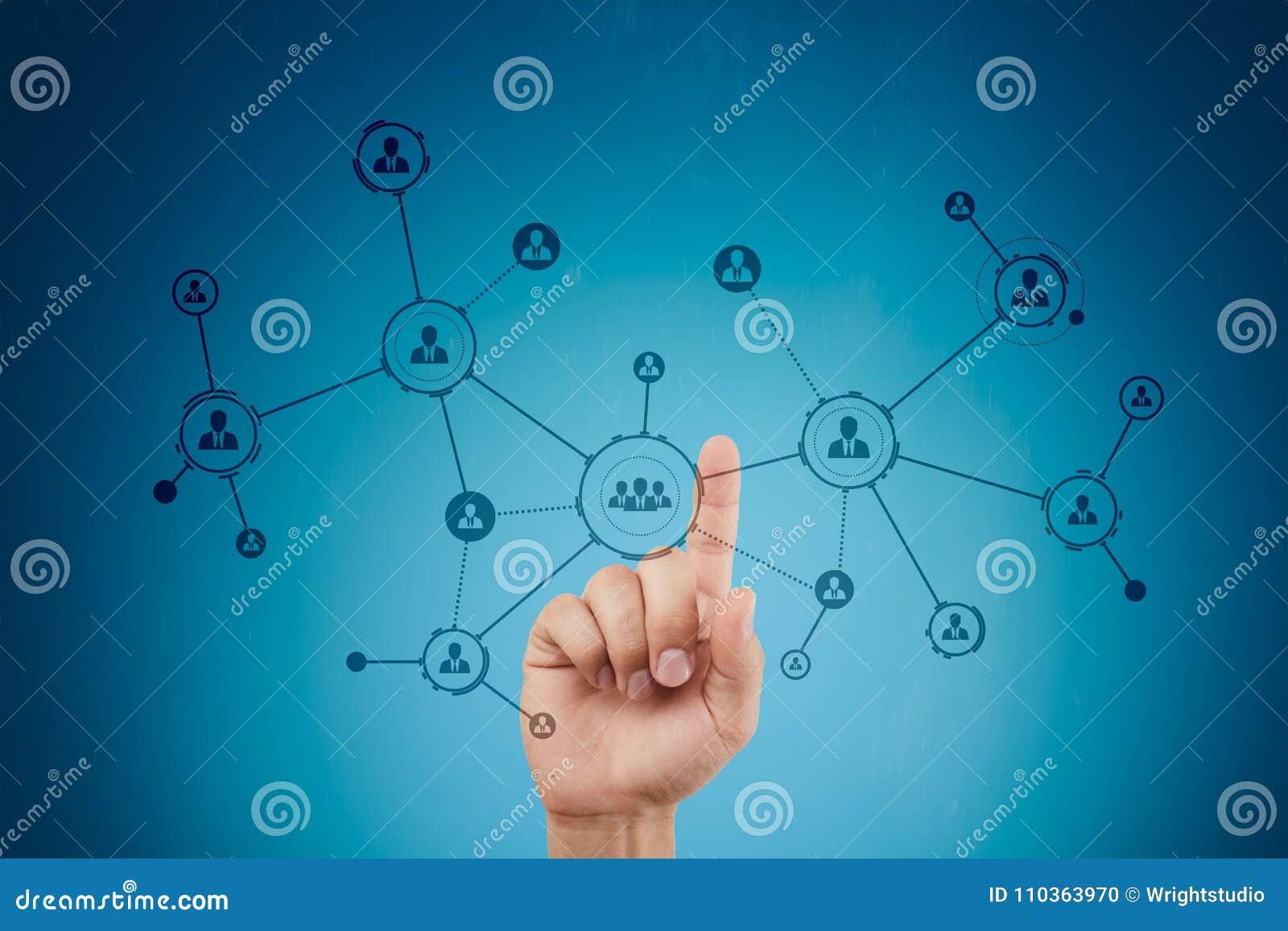 Organisation struktura Ludzie ` s socjalny sieci Biznesu i technologii pojęcie
