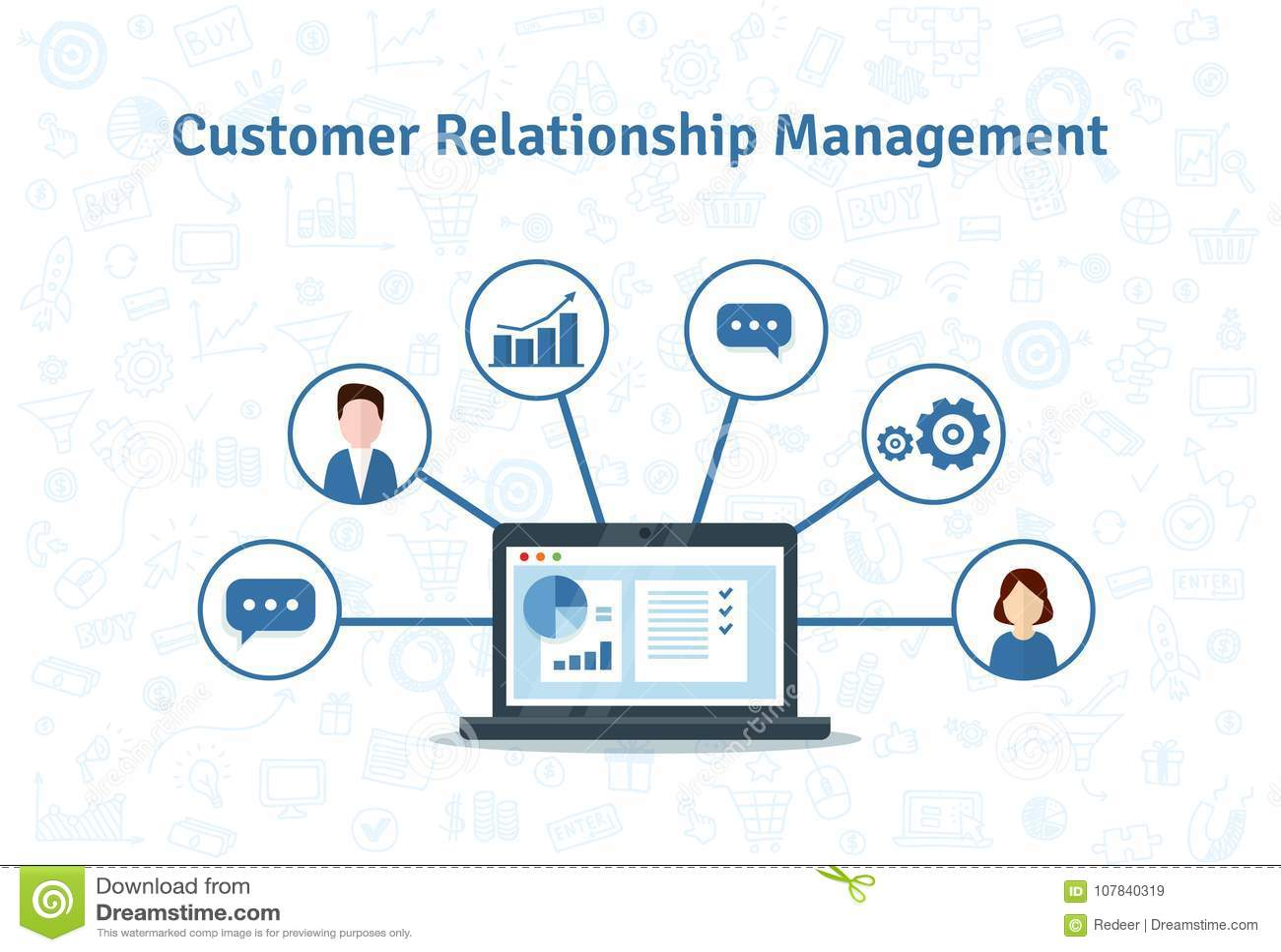 Organisation von Daten bezüglich der Arbeit mit Kunden, CRM-Konzept Kunden-Verhältnis-Managementvektorillustration