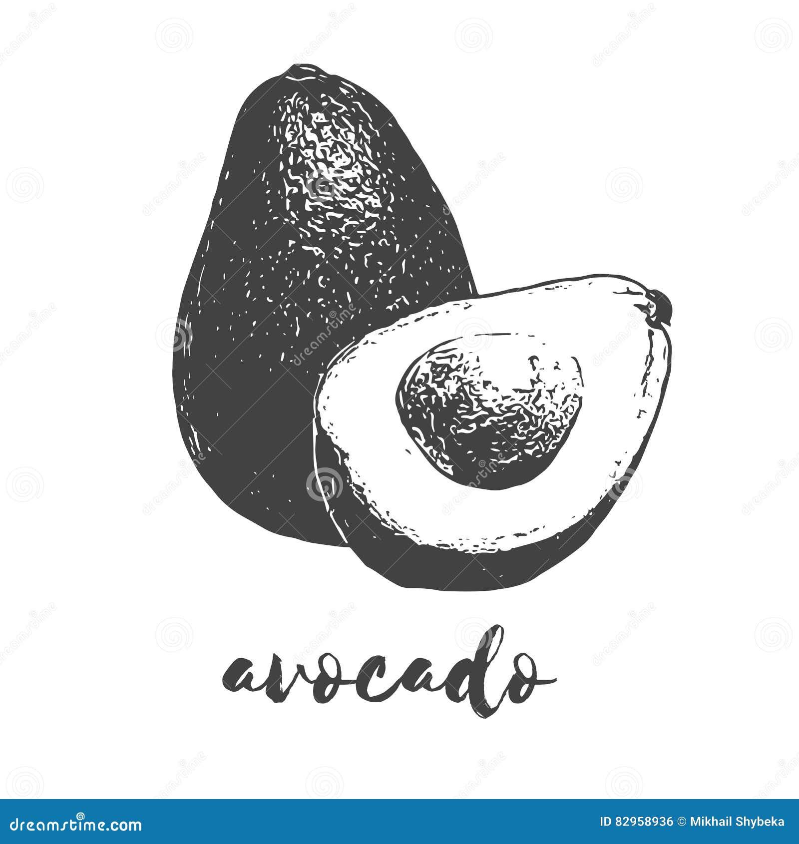 Organisch avocadofruit