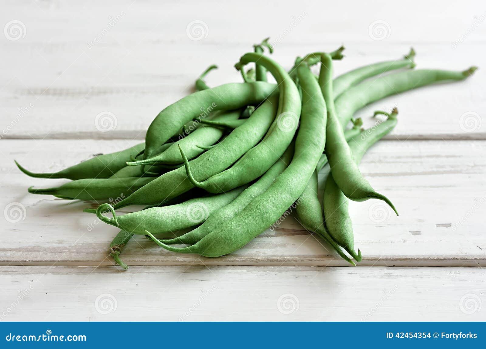 Organische grüne Bohnen
