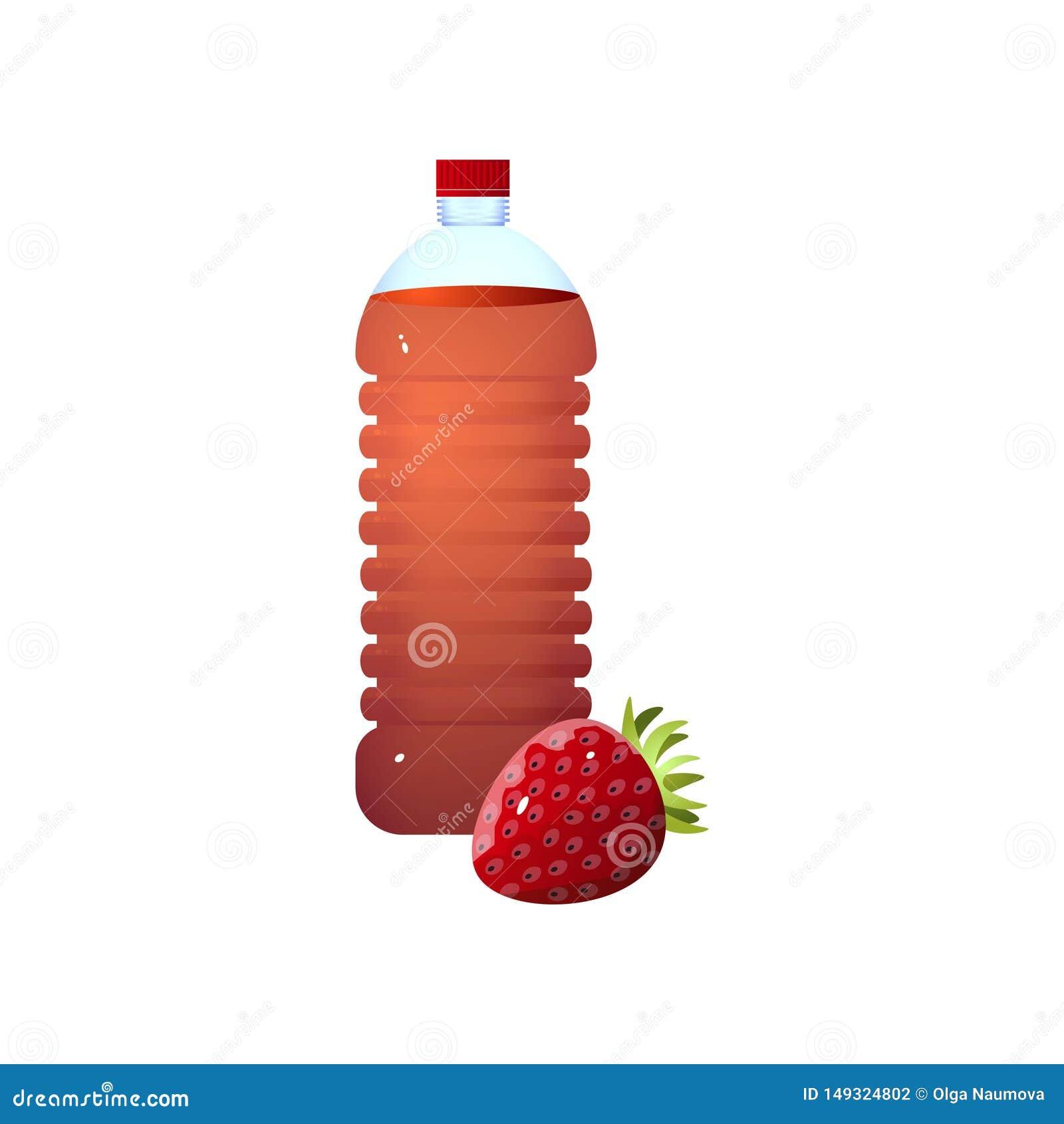 Organische plastic fles de verse azijn van de ecoaardbei
