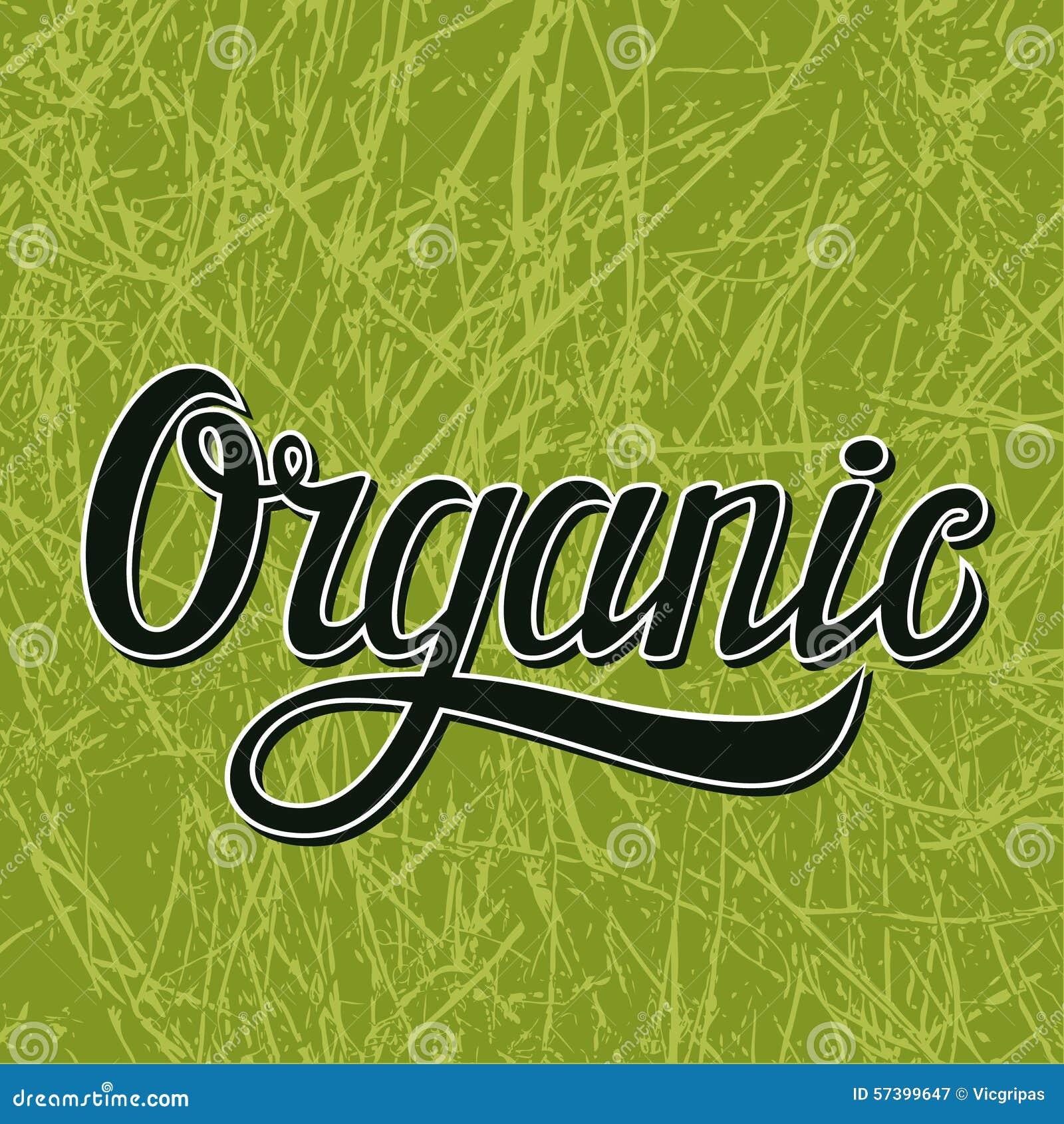 Organische typografieillustratie op groen