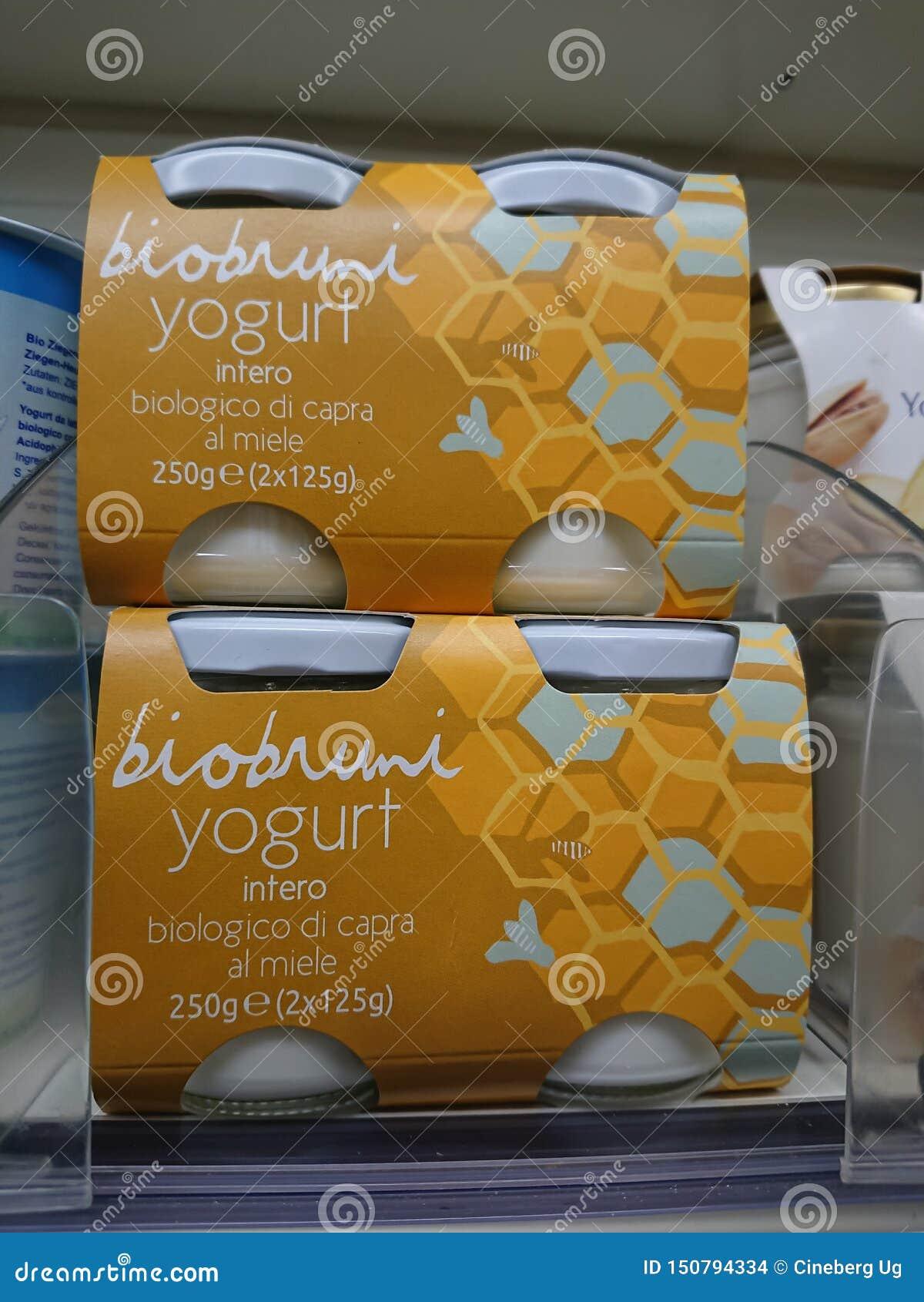 Organische yoghurt door het Italiaanse merk BioBruni