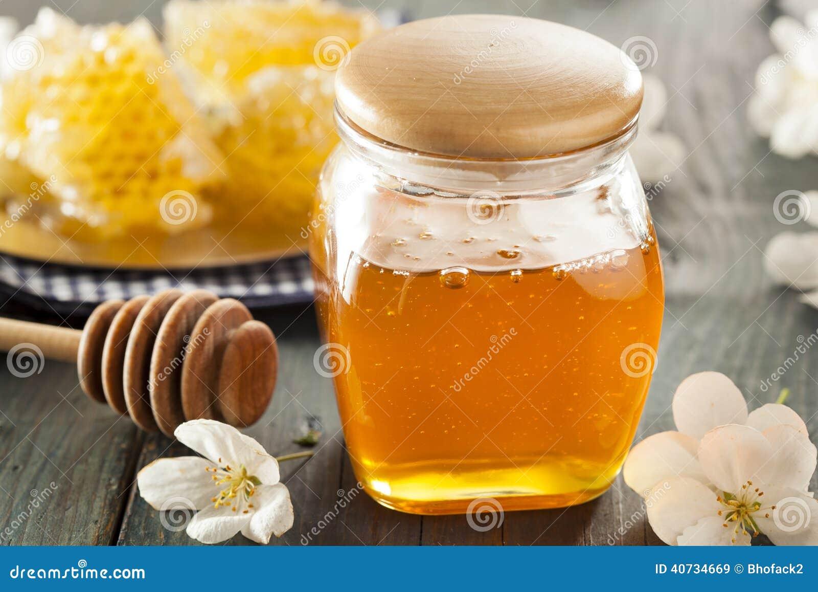 Organischer roher goldener Honey Comb