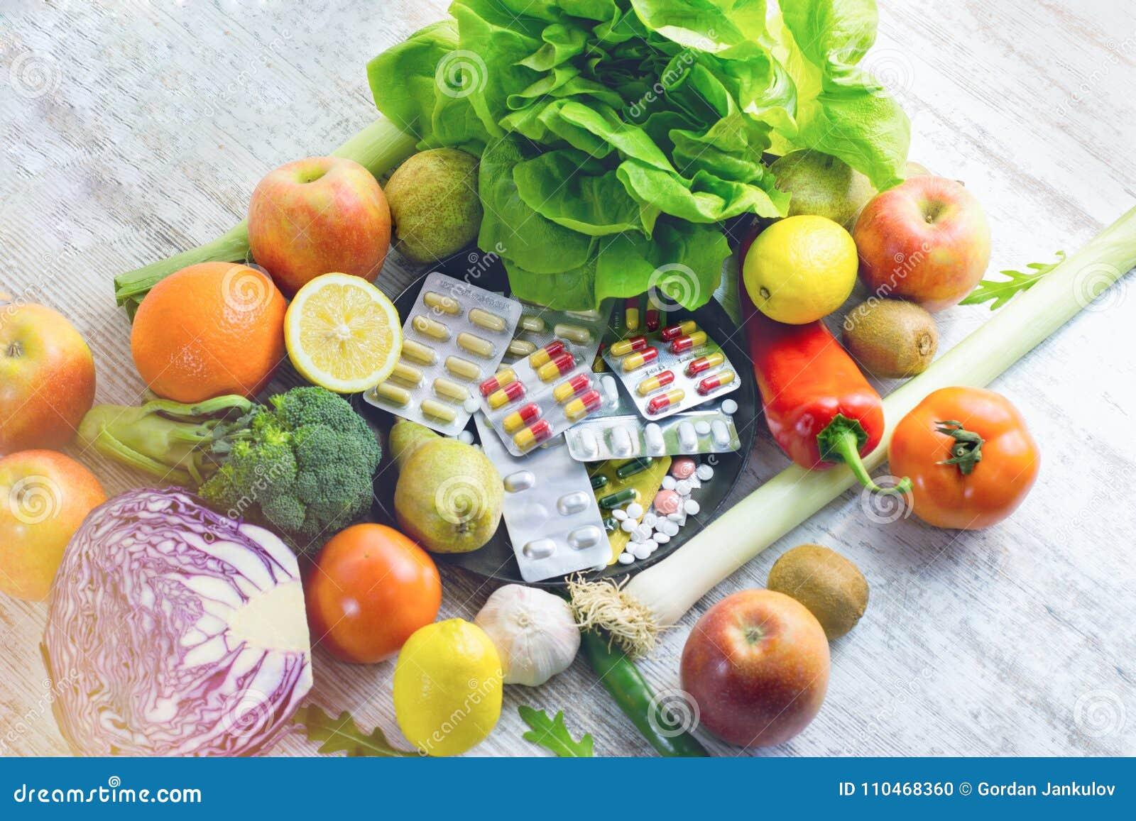 Organisches Obst Und Gemuse Und Nahrungserganzung Fur Ihre Gesunde