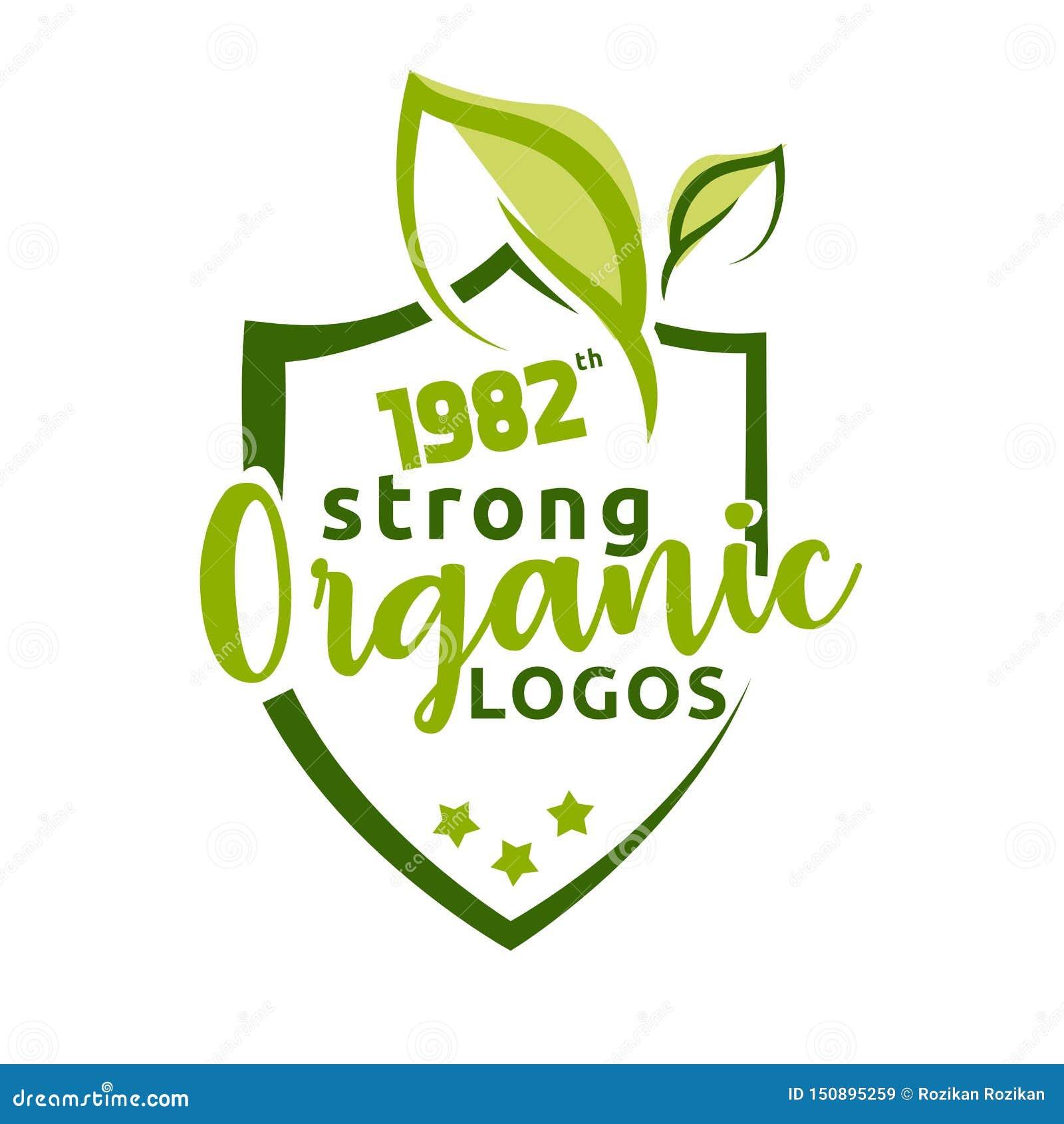 Organisk stark naturlig logovektor