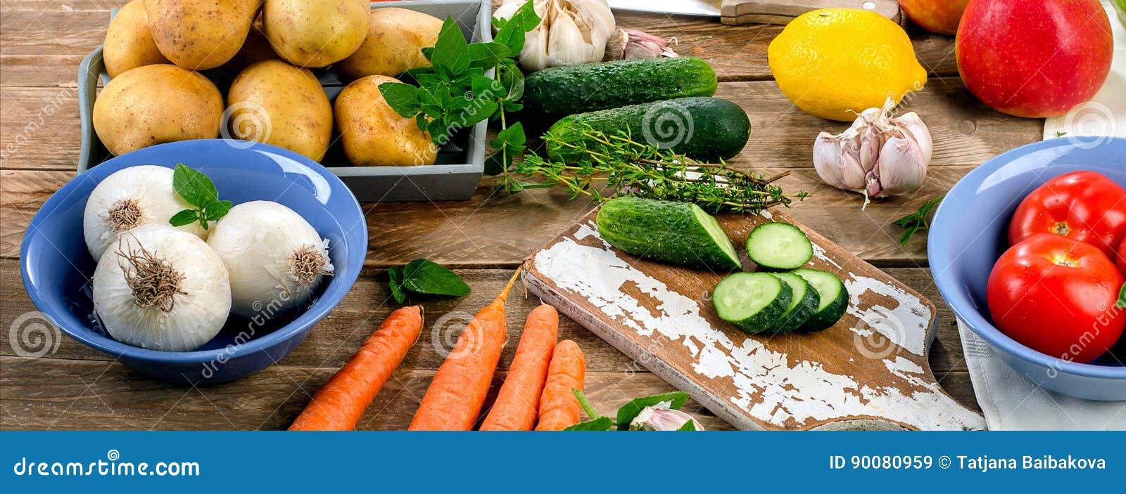 Organiska rå grönsaker sund bakgrundsmat