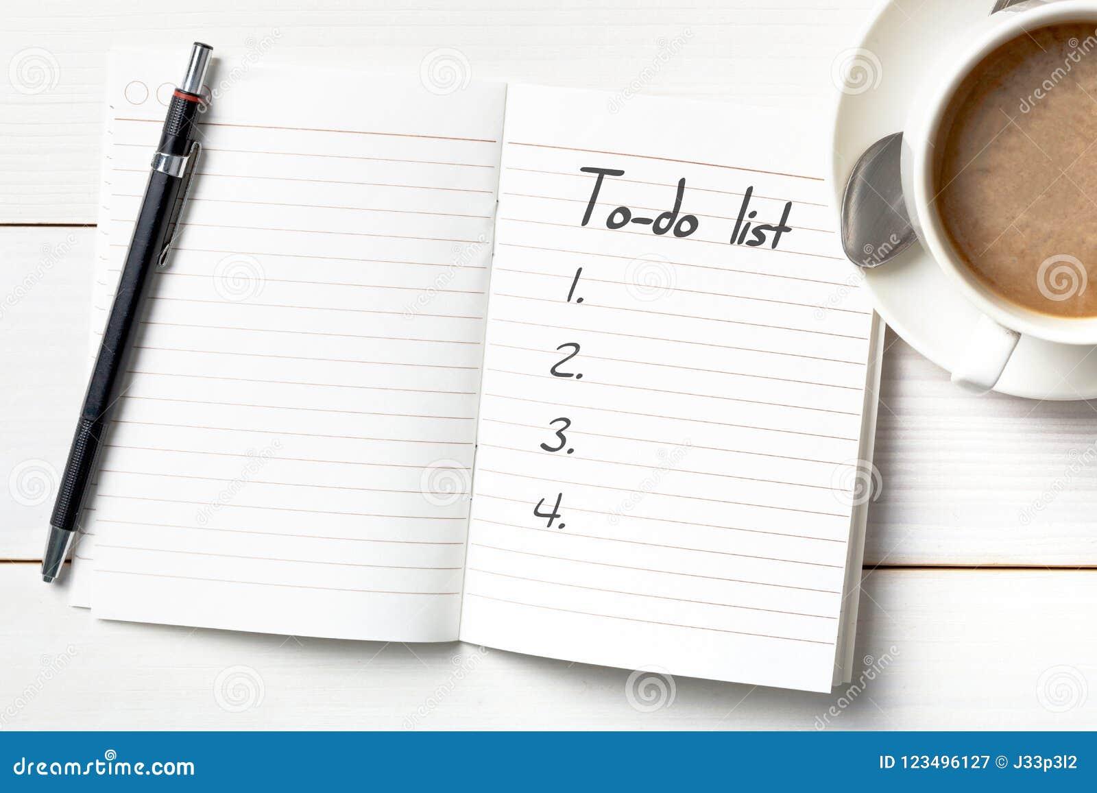 Organizador personal con a para hacer la lista