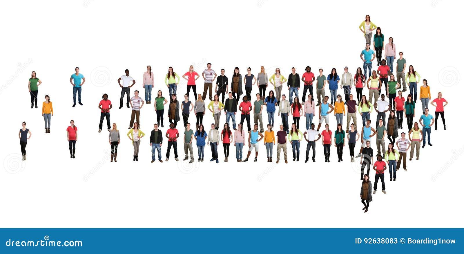 Organizati för teamwork för lag för framgång för grupp människorriktningspil