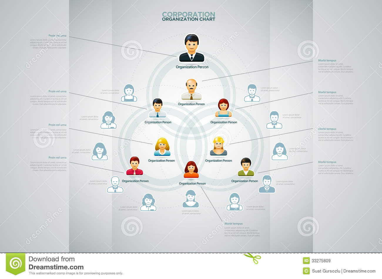 Organization Chart Royalty Free Stock Images - Image: 33275809