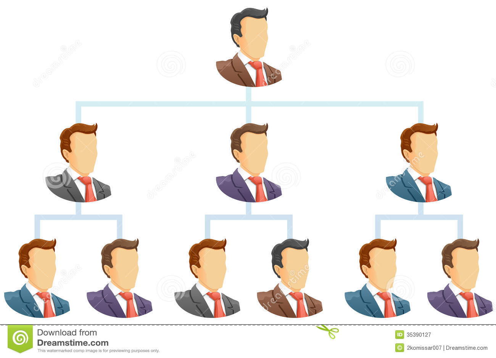 office organization chart template