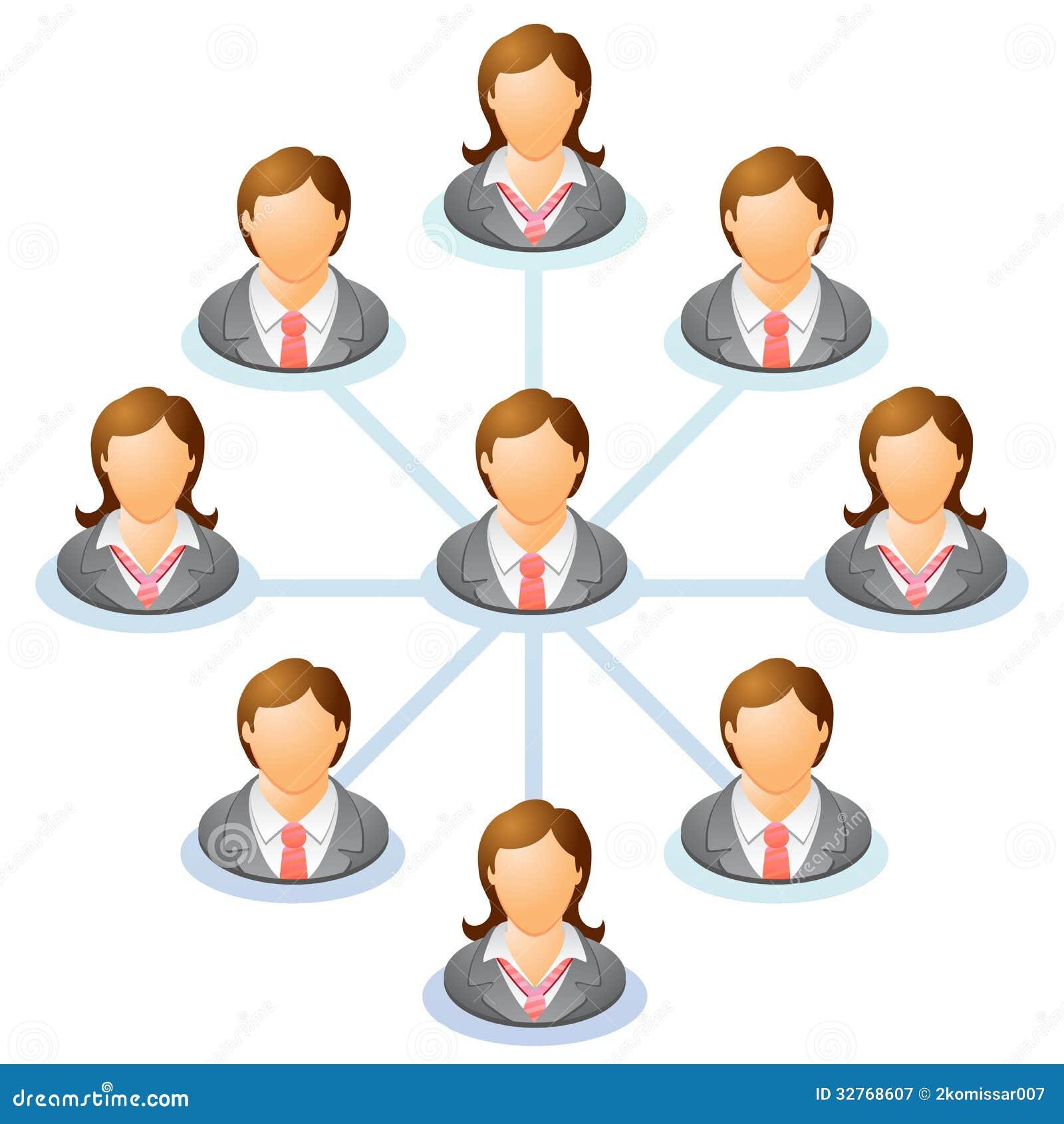 Organization Chart Royalty Free Stock Photography