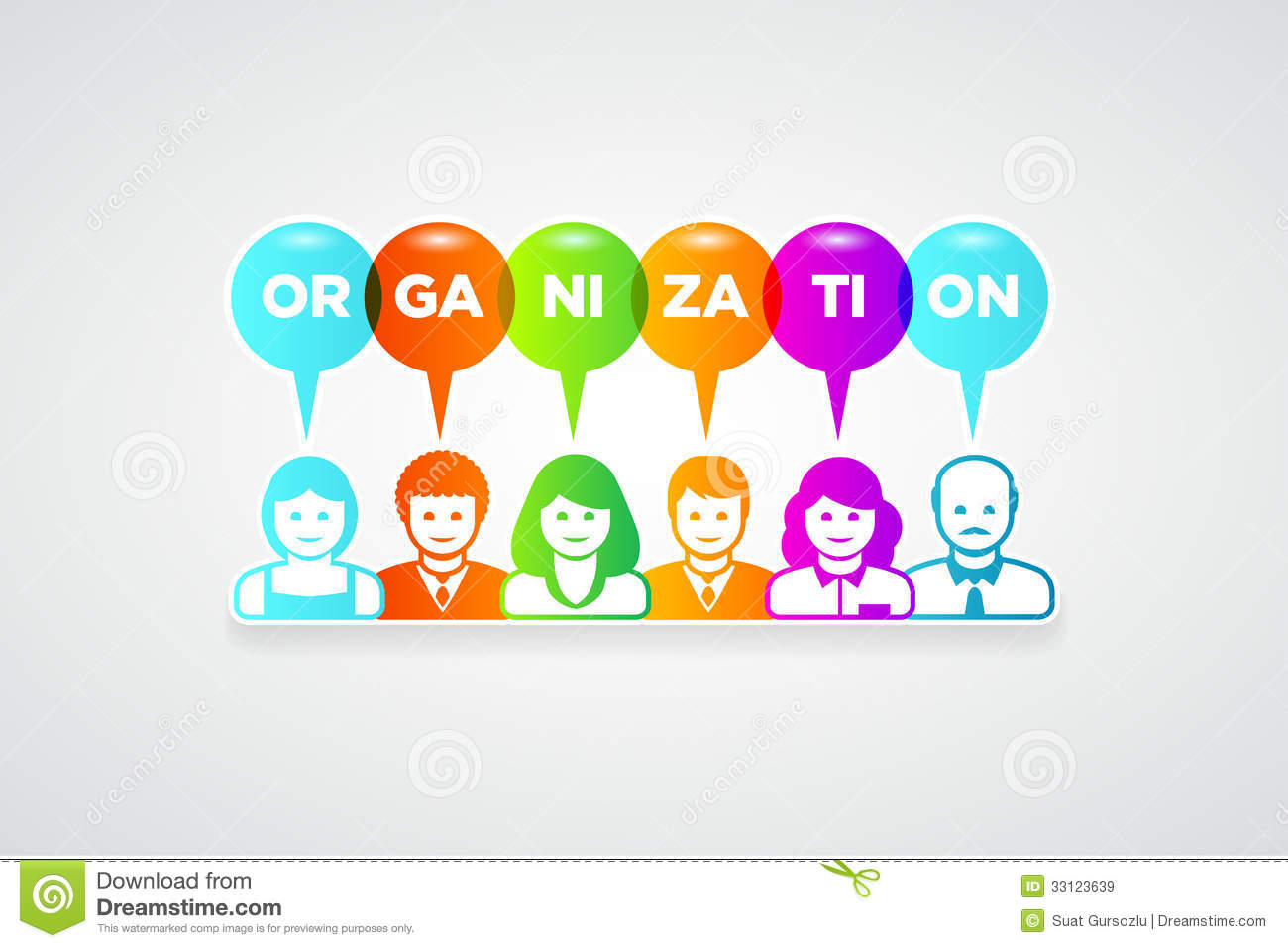 Organization Concept Royalty Free Stock Images - Image: 33123639
