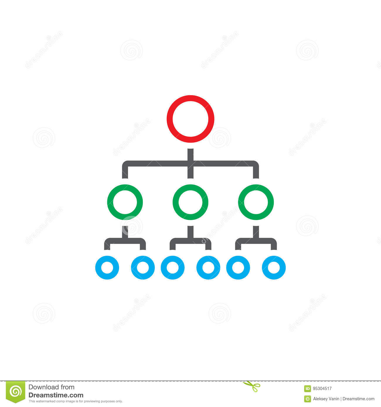 Organizational chart line icon outline hierarchy vector logo stock download comp ccuart Image collections