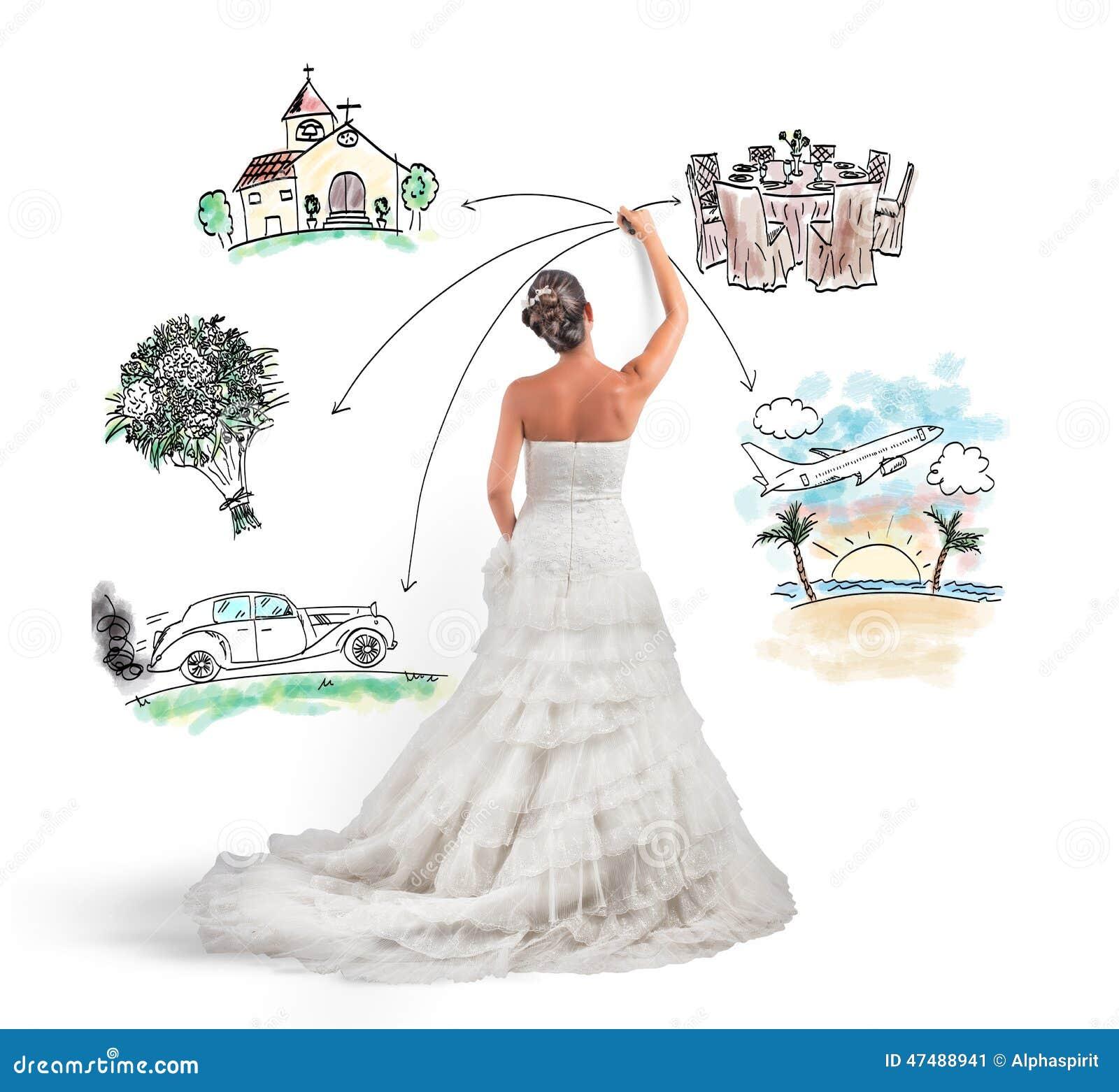 Organizing A Wedding Stock Illustration