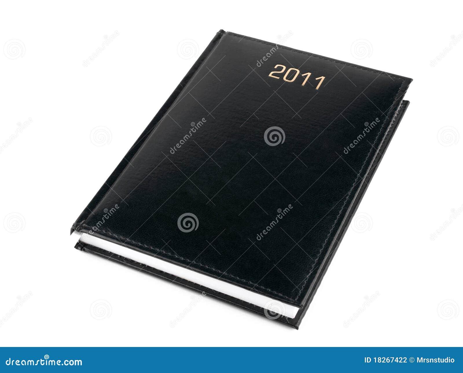 Organizzatore nero 2011 su bianco