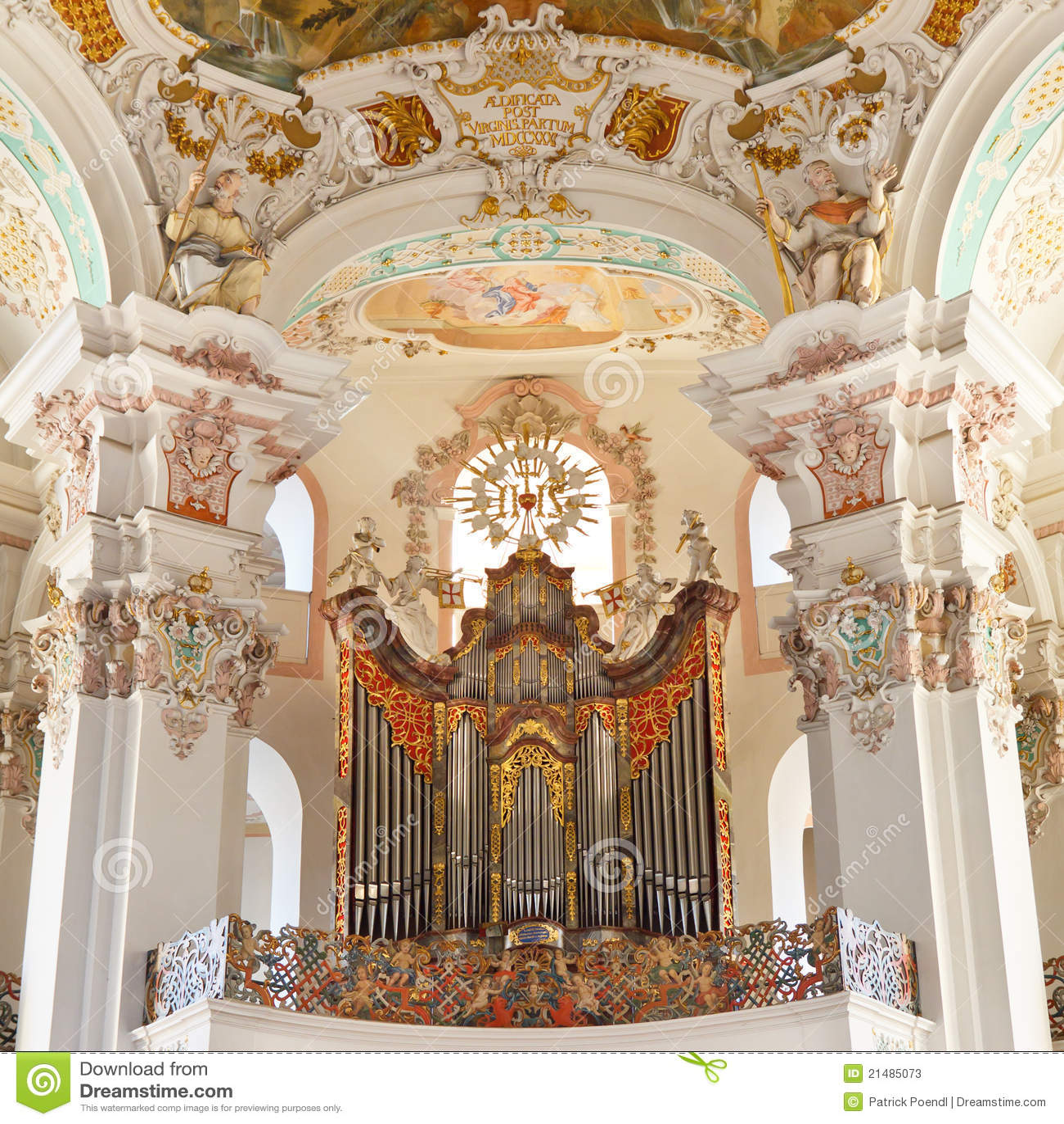 Organo barrocco della chiesa