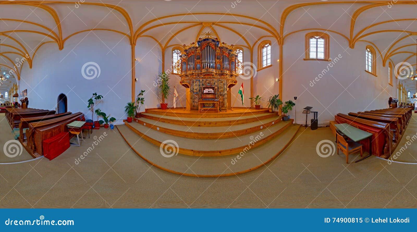 Organo barrocco nella chiesa riformata della fortezza, Târgu Mureș, Romania