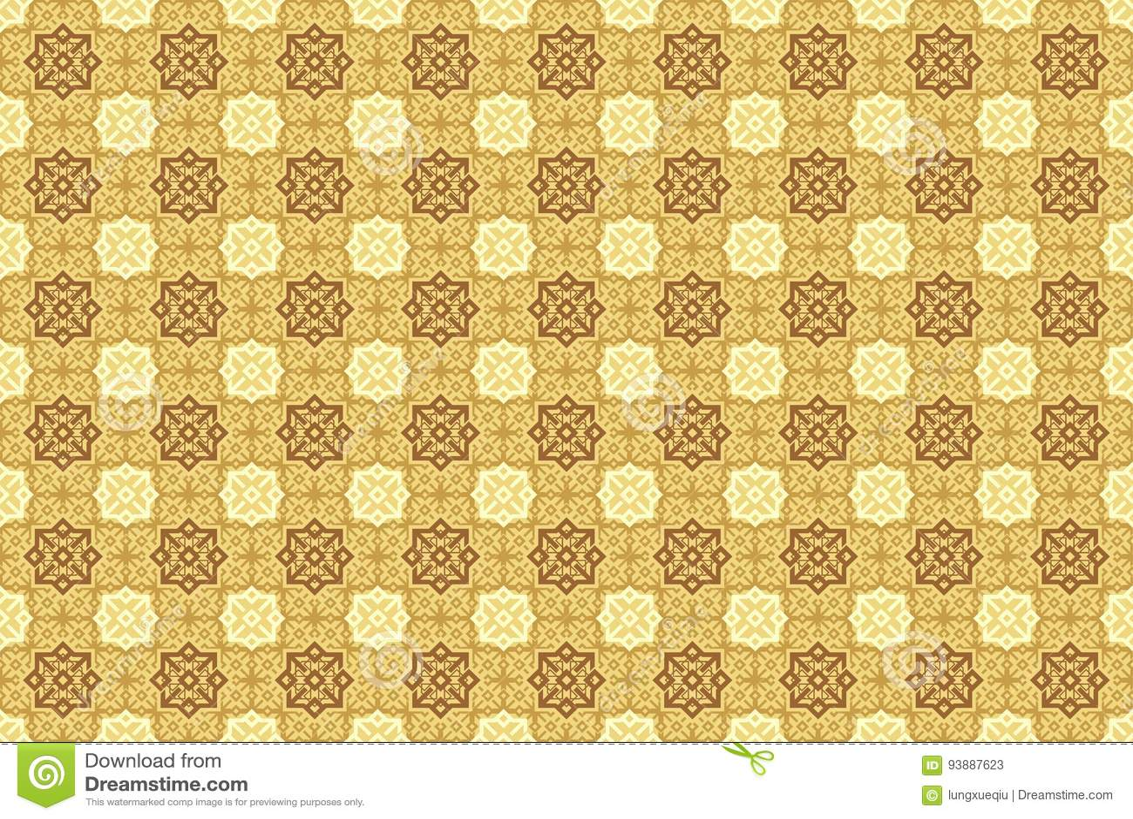 Oriental Arabian Ornamental in Brown Cappuccino Soft Cream Color Wallpaper