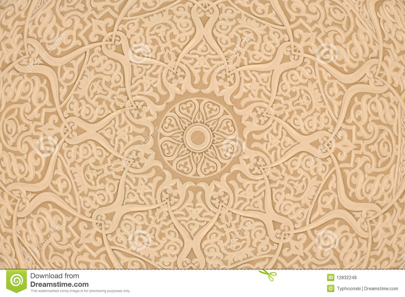 Oriental arabic decoration stock photo image of detailed for Decoration orientale