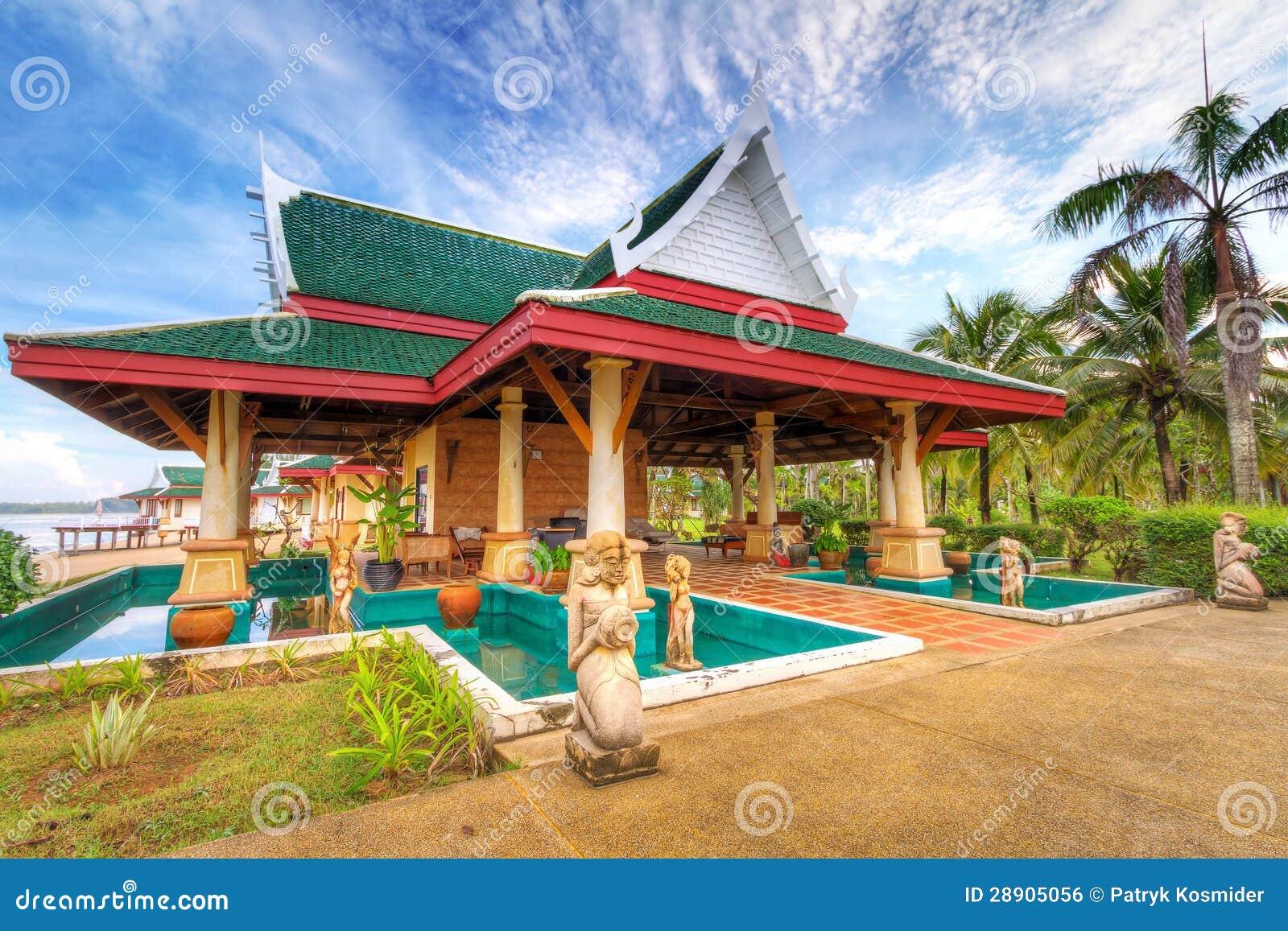 Oriental architecture spa building stock photo image for Architecture orientale