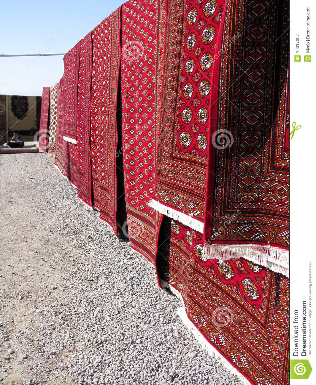 Oriental Bazaar Objects Bukhara Rugs Stock Image Image