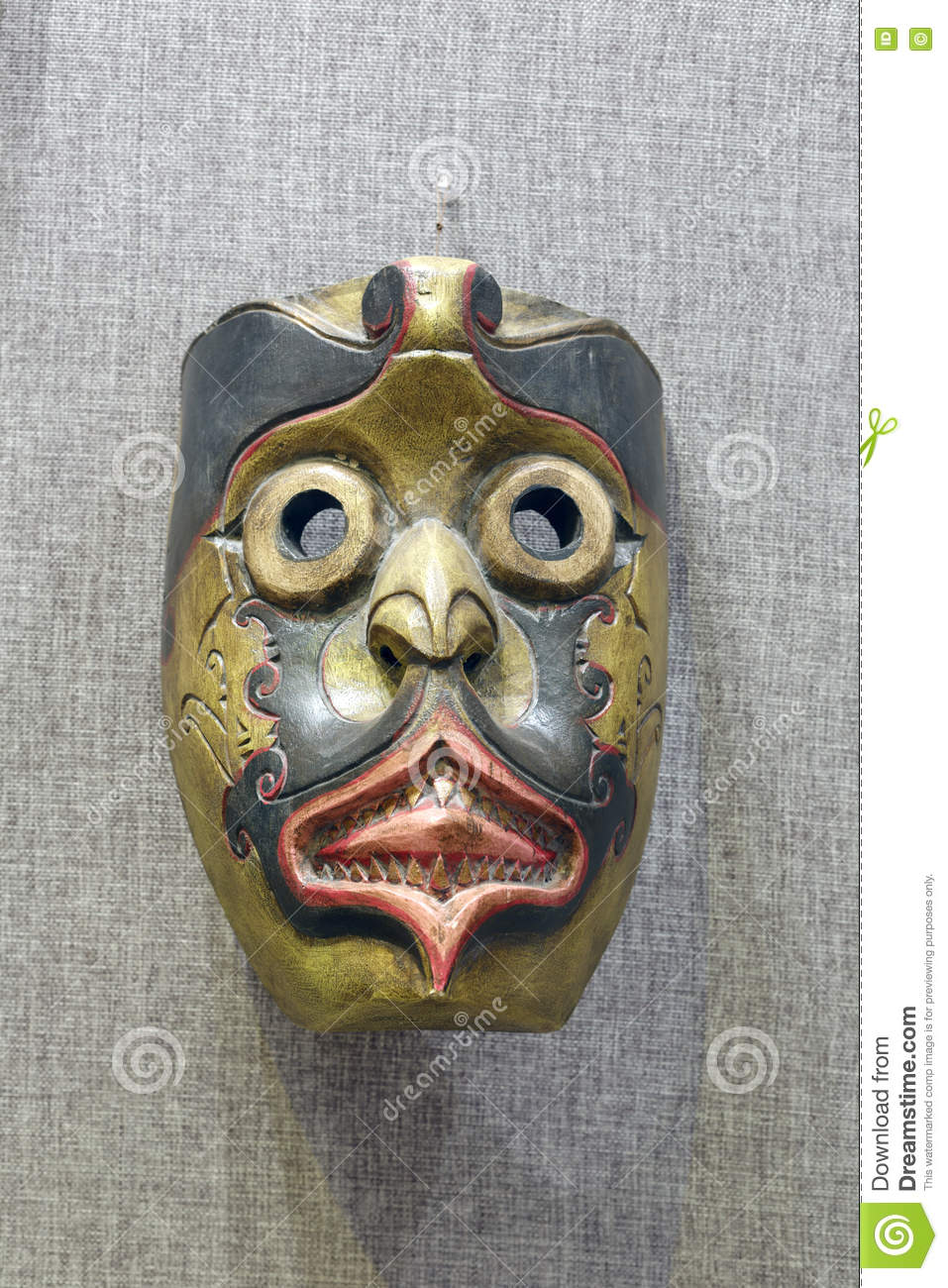 Oriental bird face mask stock photo  Image of meaning - 76129390