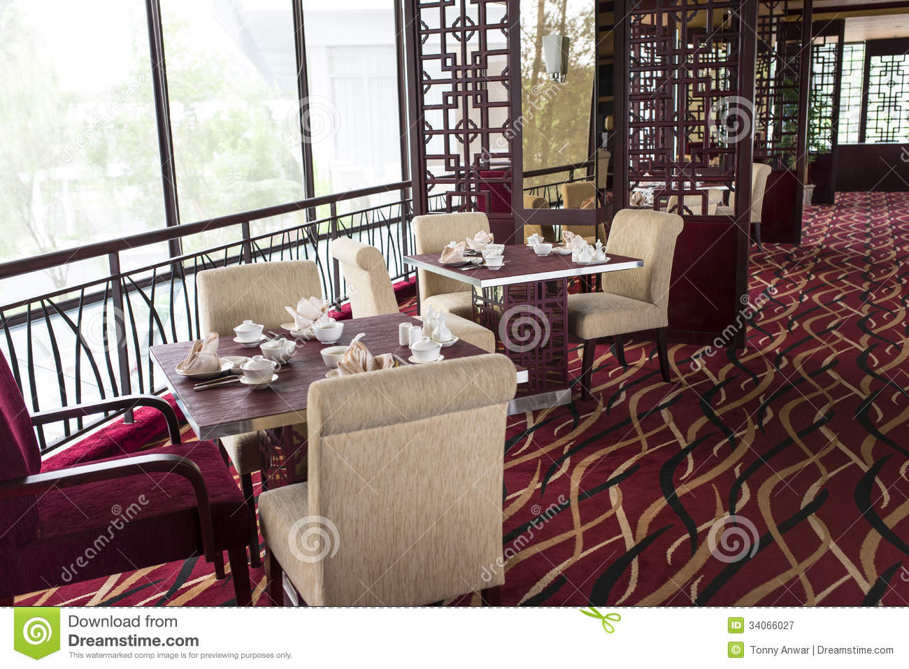 Oriental Chinese Restaurant Royalty Free Stock Photography Image 34066027