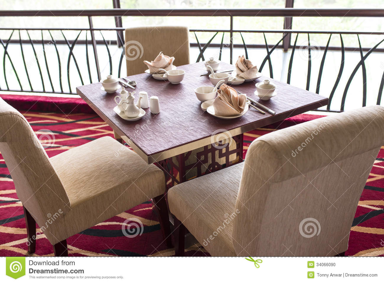 Oriental chinese restaurant stock photo image