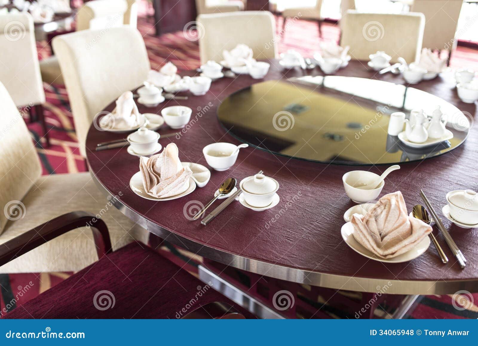 Restaurant table setup - Oriental Chinese Restaurant Royalty Free Stock Photos