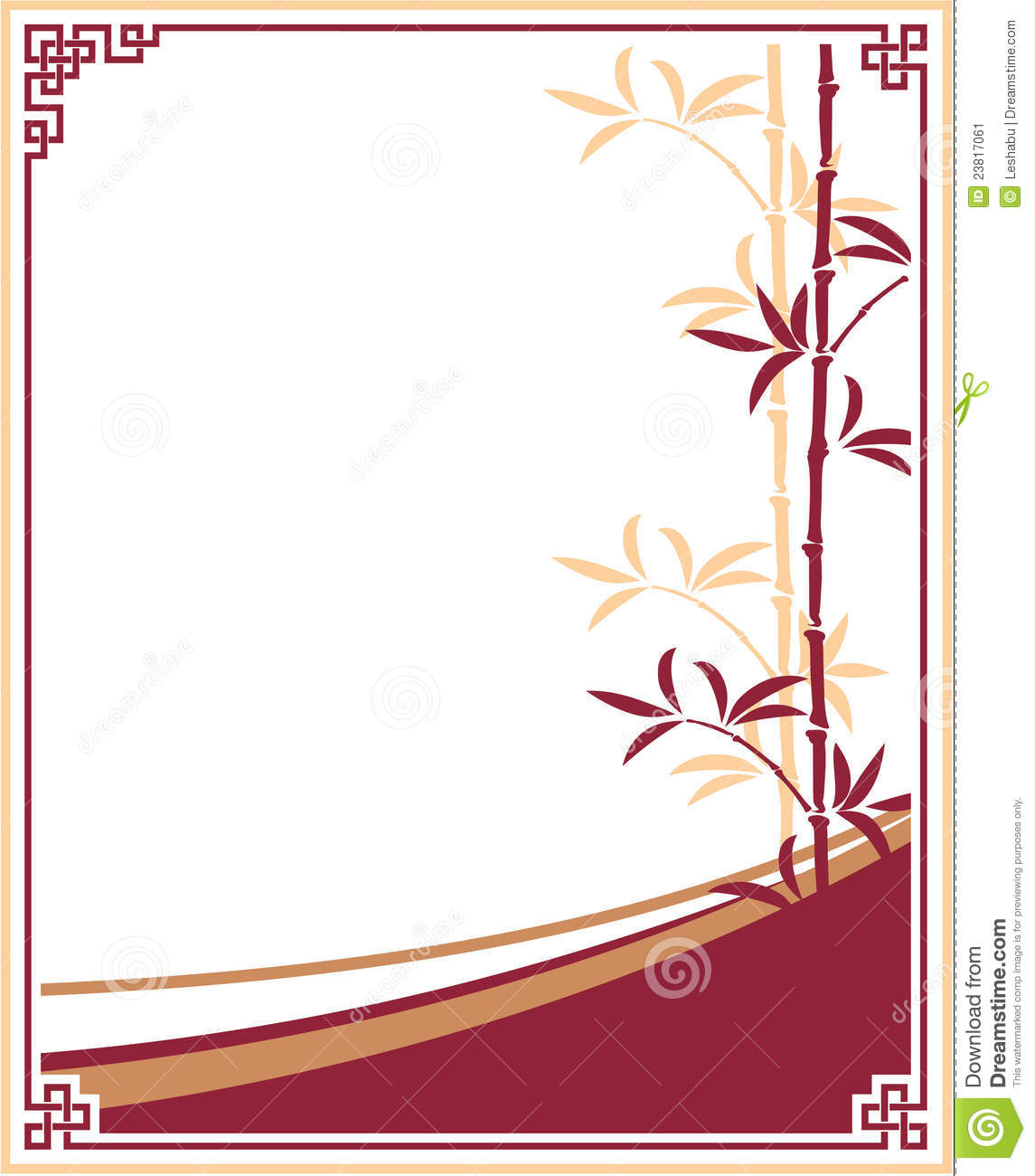 Chinese Decorative Border Oriental - chinese - template